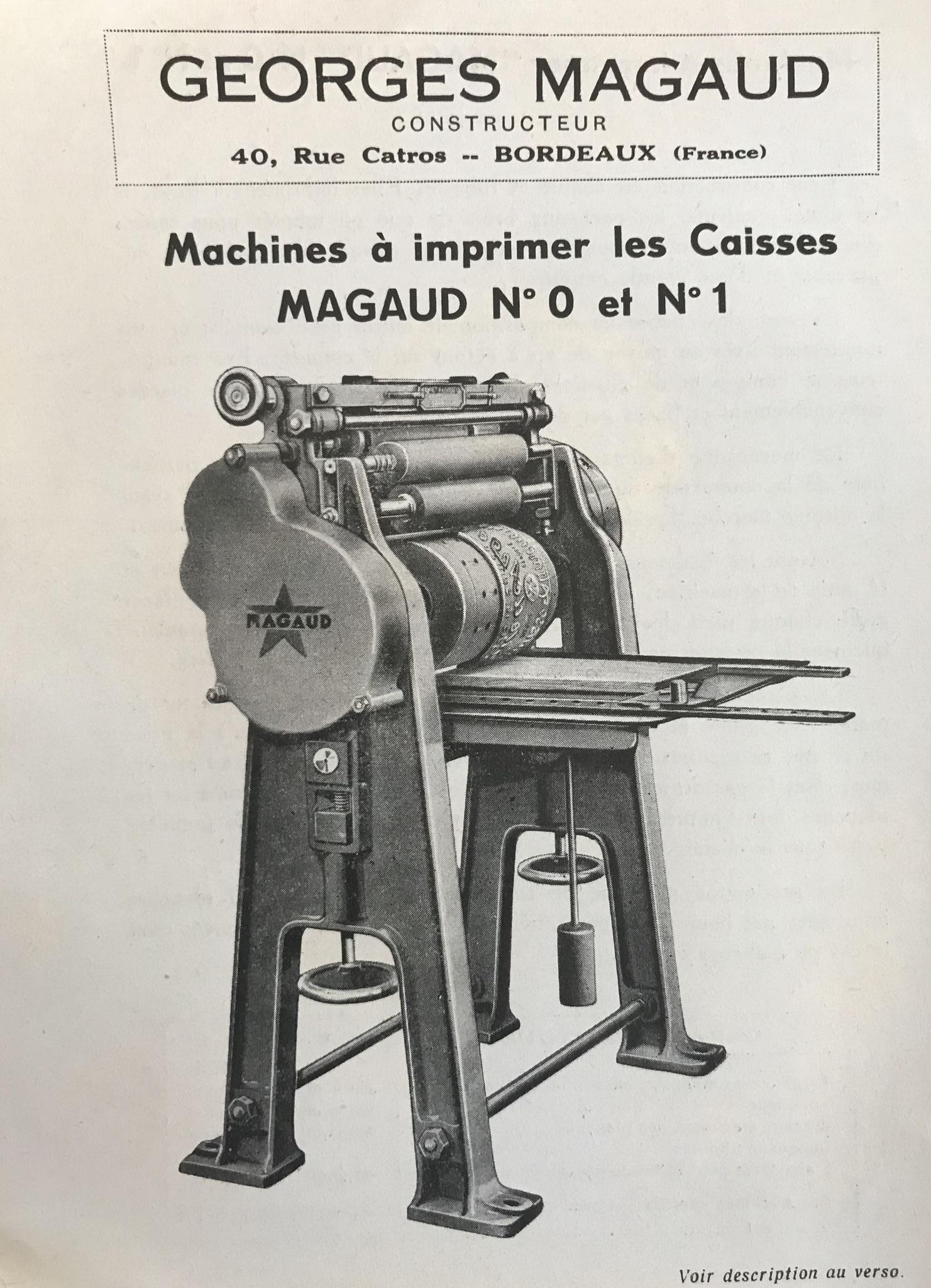 Imprimeuse Magaud des années 1940