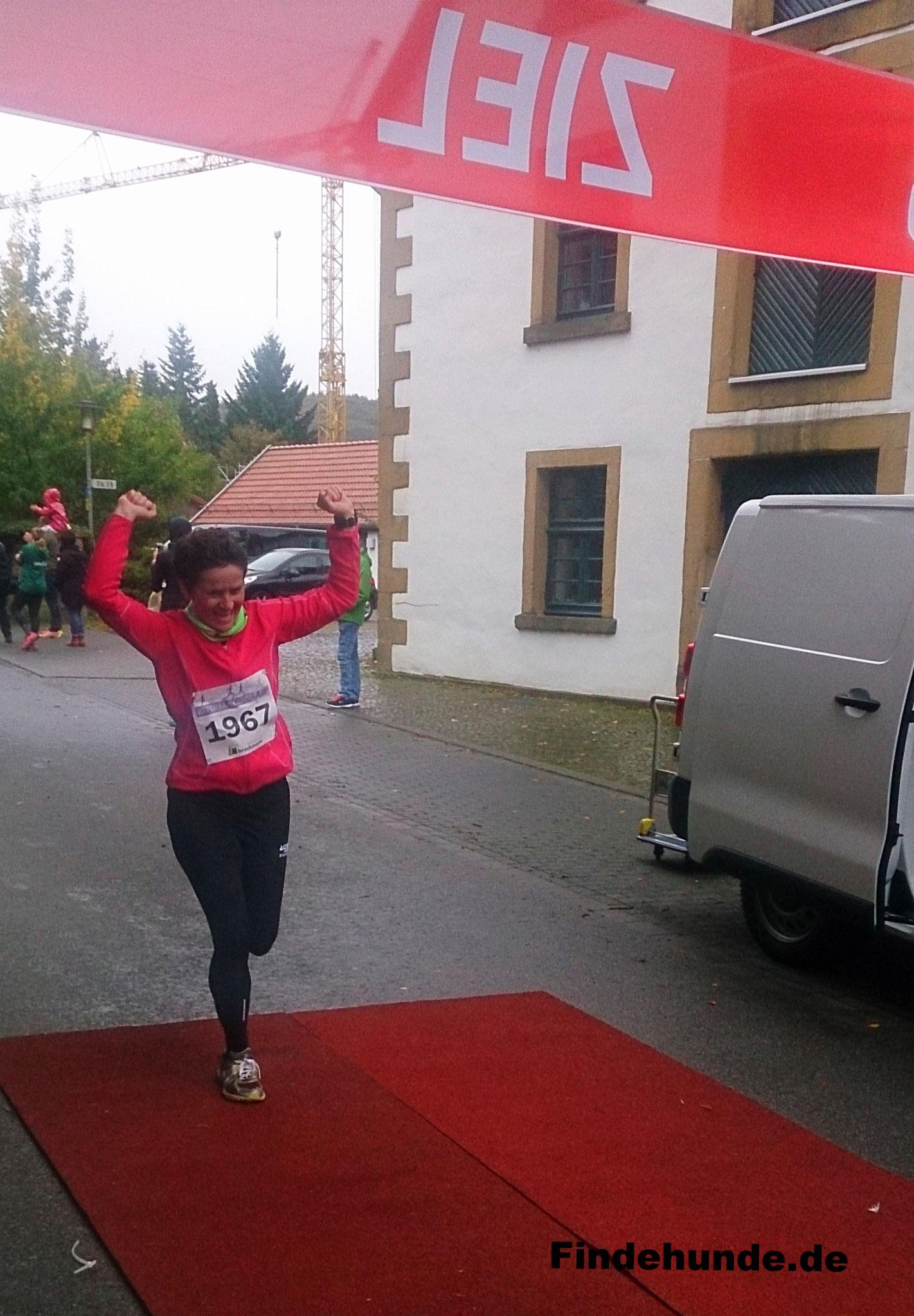 Yvonne beim finalen Sprint.