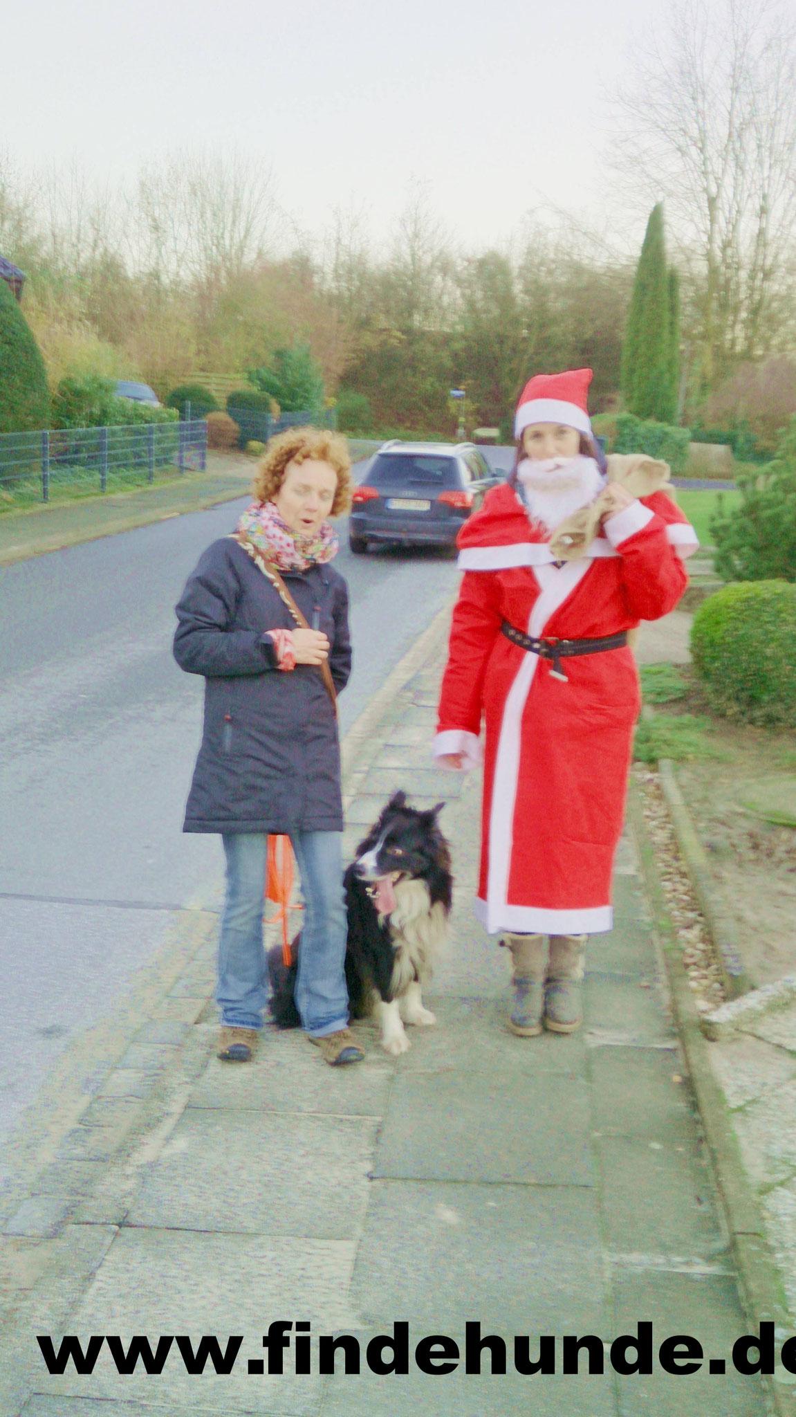 Claudia und Balou haben die Nikolaus gefunden.