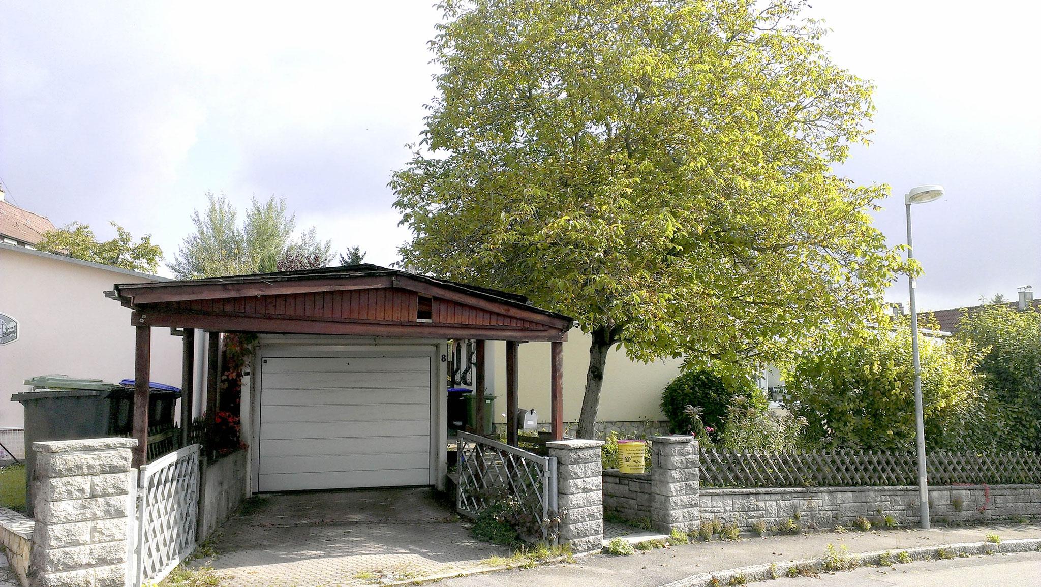 Vorher Zustand Carport/Eingang/Zaun