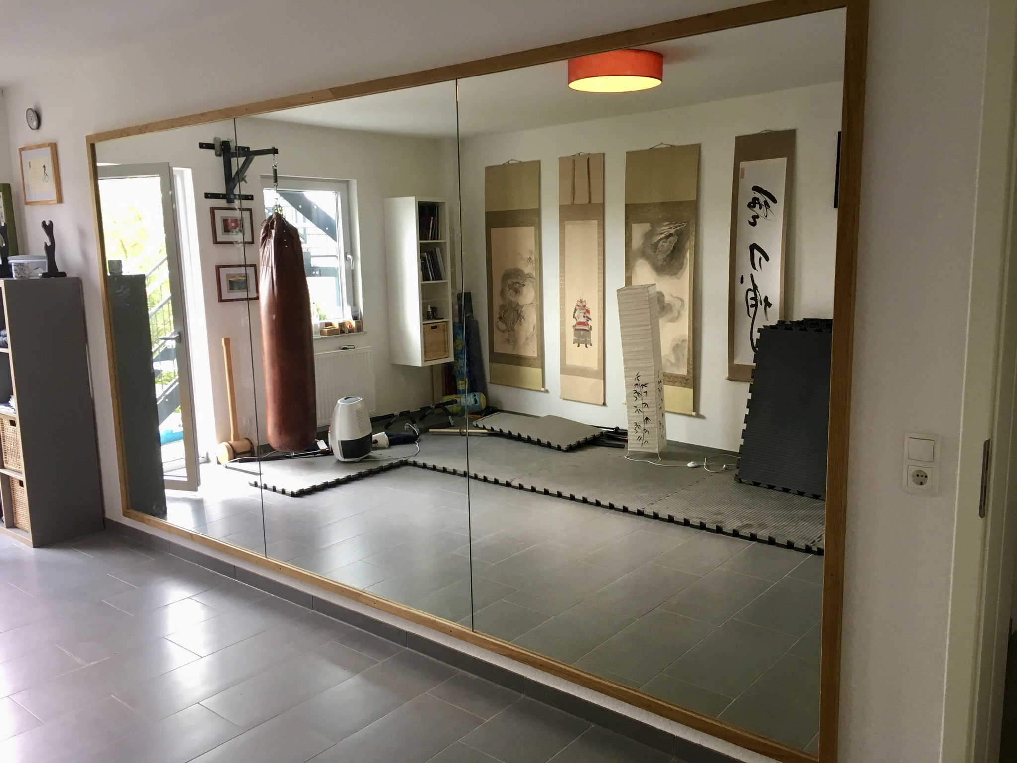 Spiegelwand privates Dojo