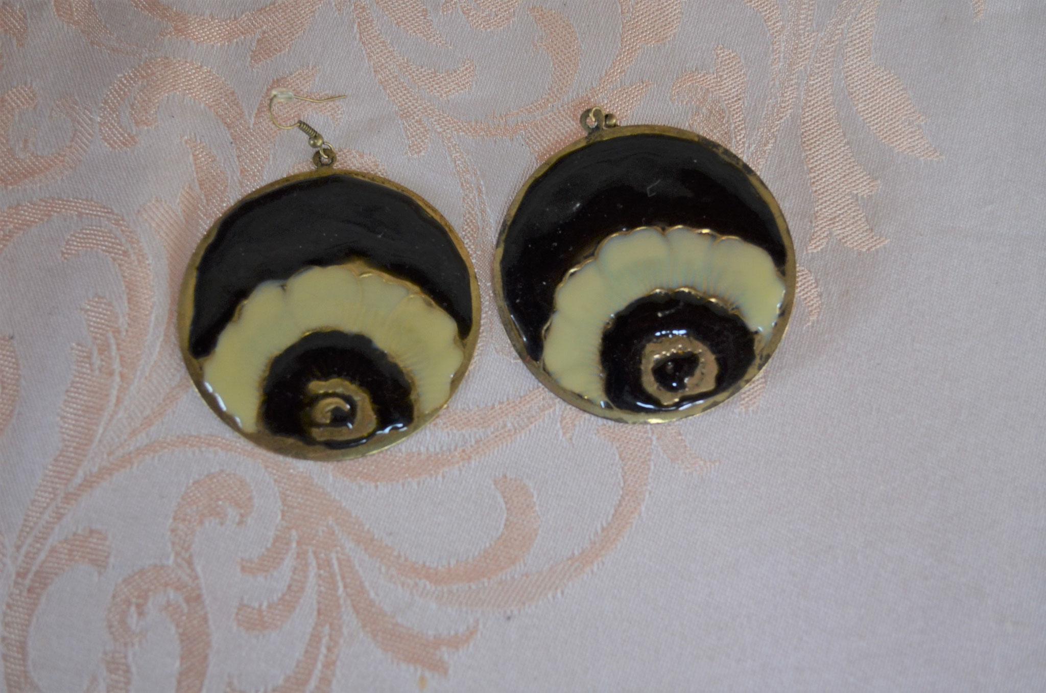 Modeschmuck Ohrringe im XXL Format aus den 1980er/1990er Jahren. Preis: 2,50 €