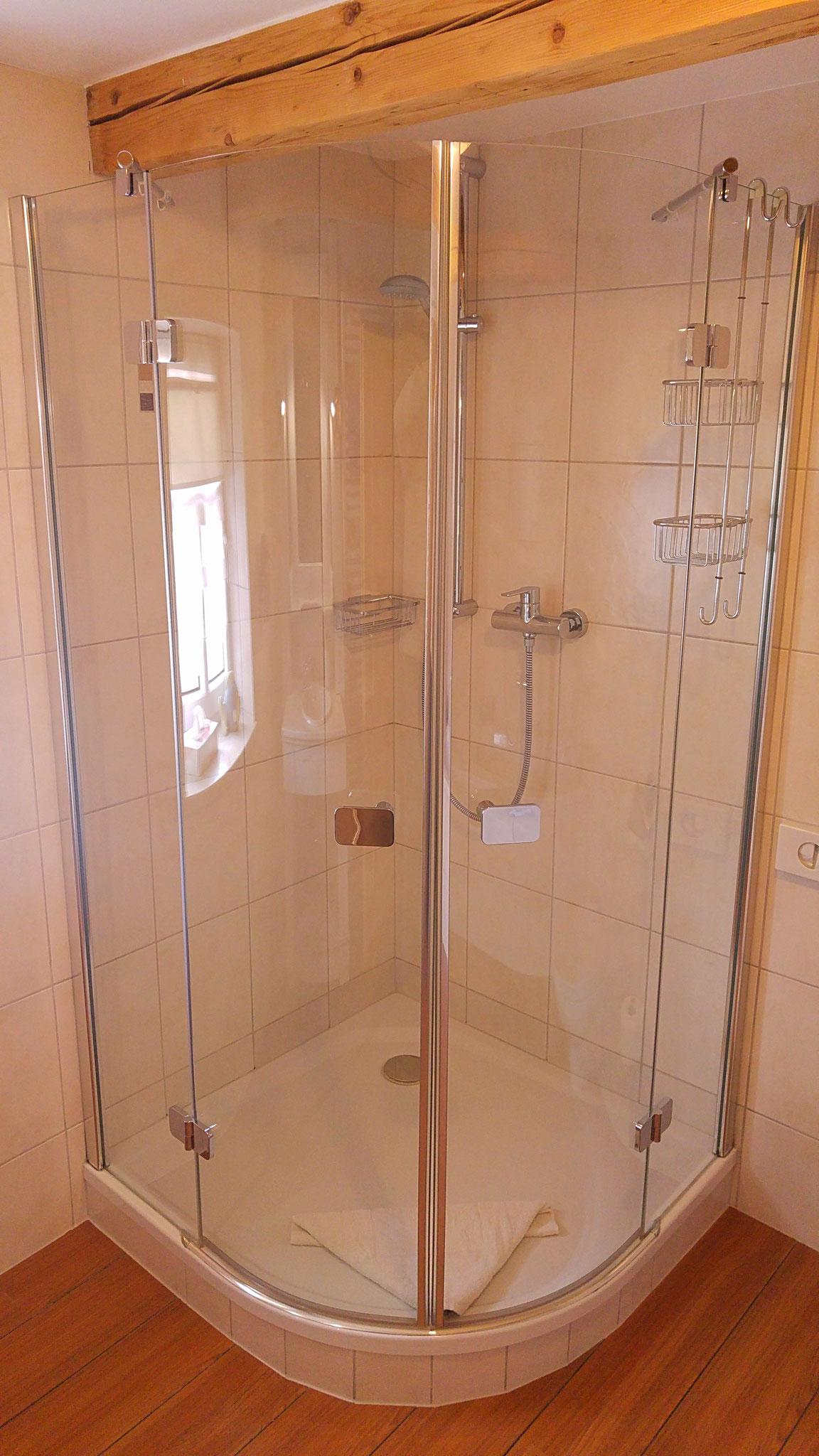 ...die Dusche...