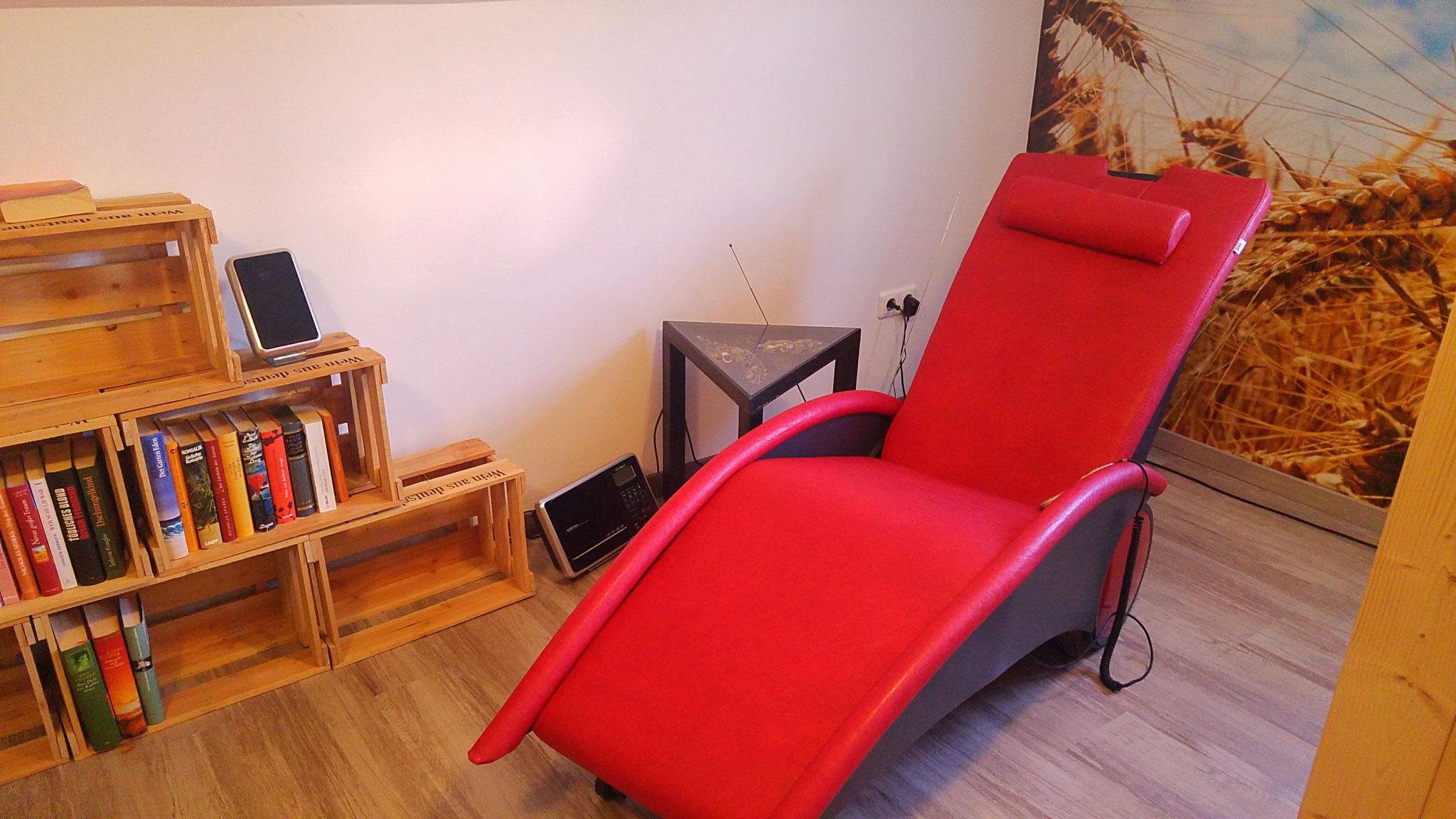 ...der Massagesessel...gerne kostenfrei nutzbar