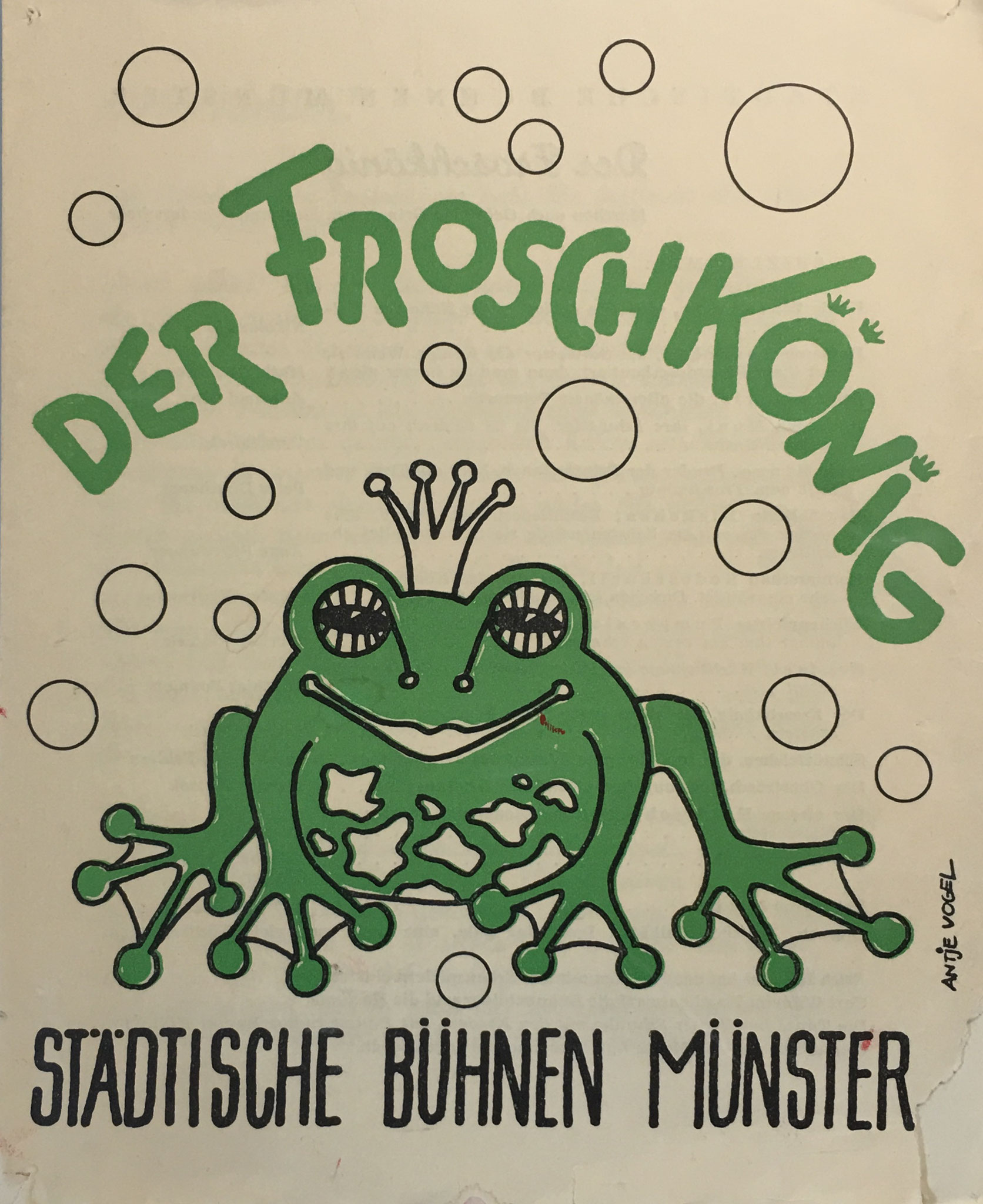 Froschkönig Programmheft fürs Theater Münster