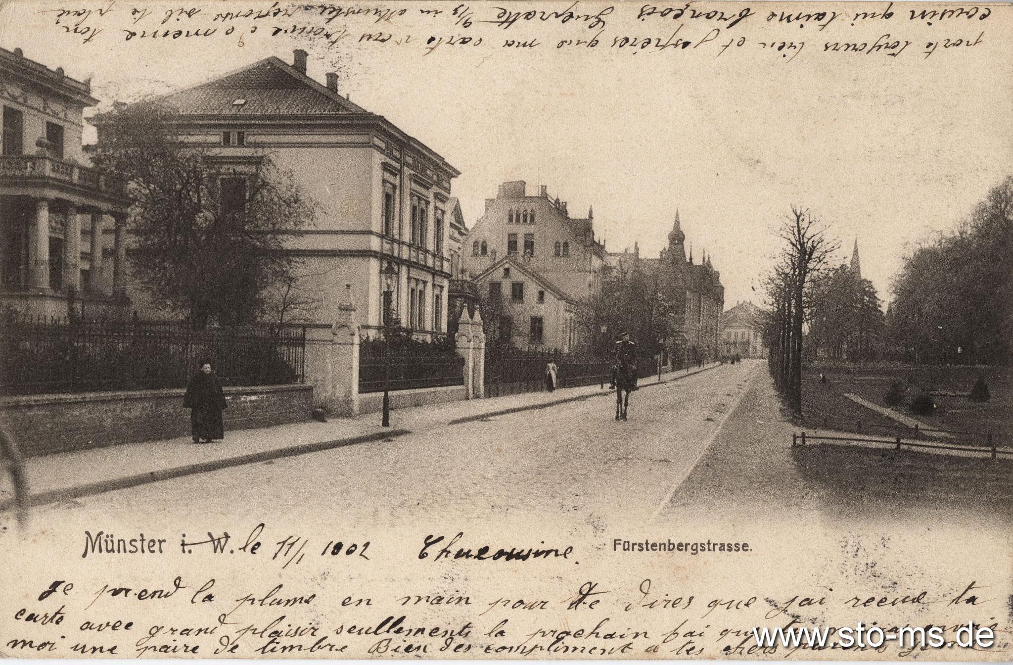 Fürstenbergstraße mit Reiter