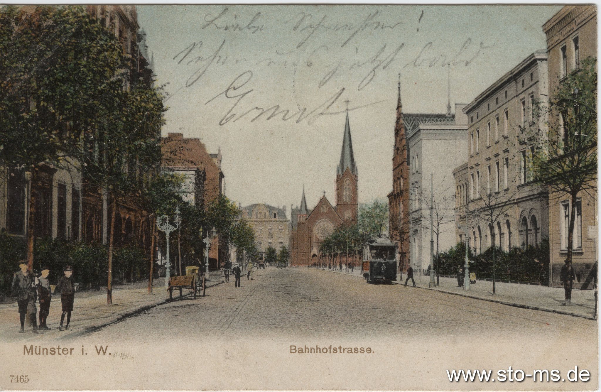 Bahnhofstraße Richtung Erlöserkirche