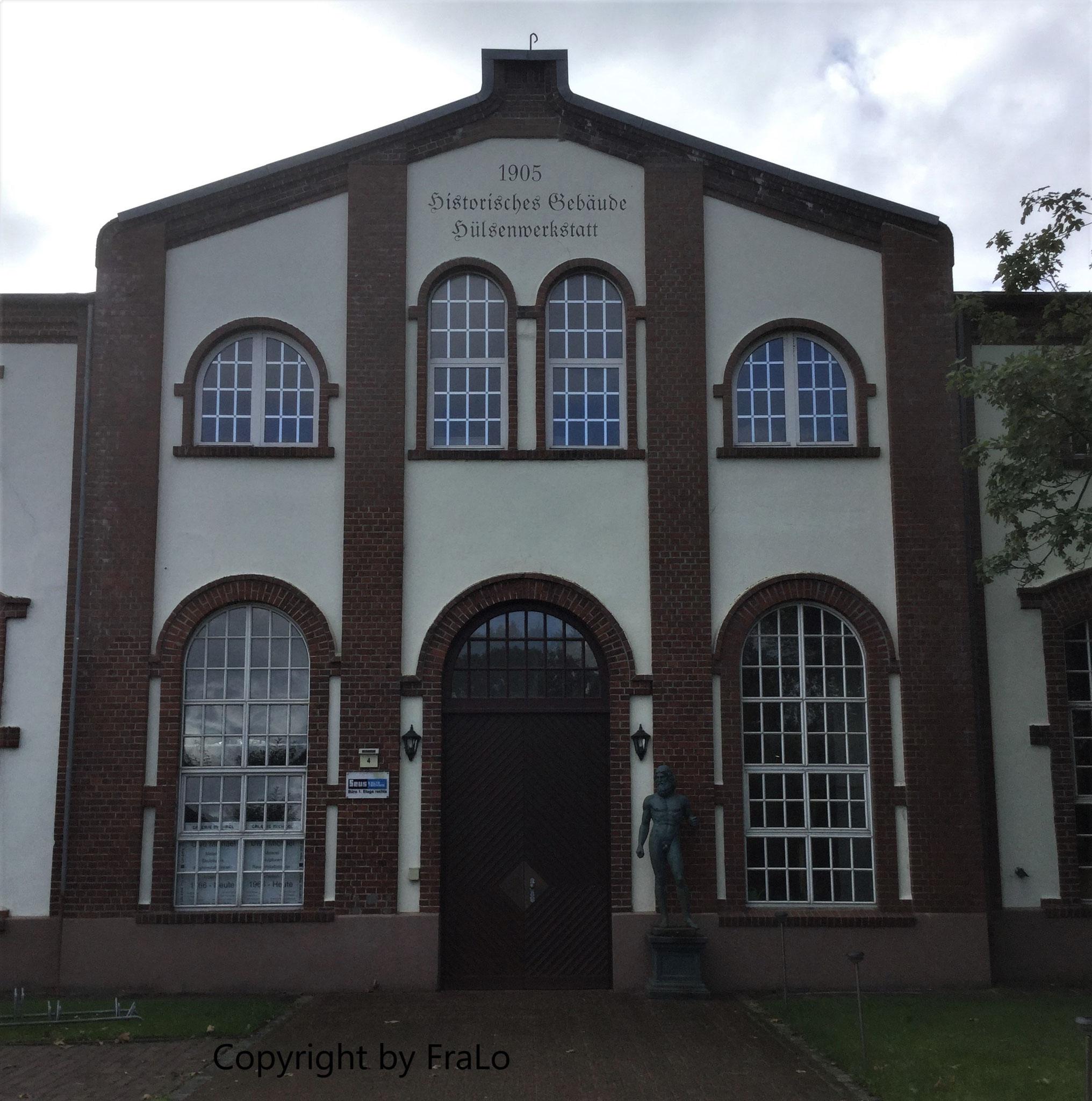 Eingangsportal der Hülsenwerkstatt