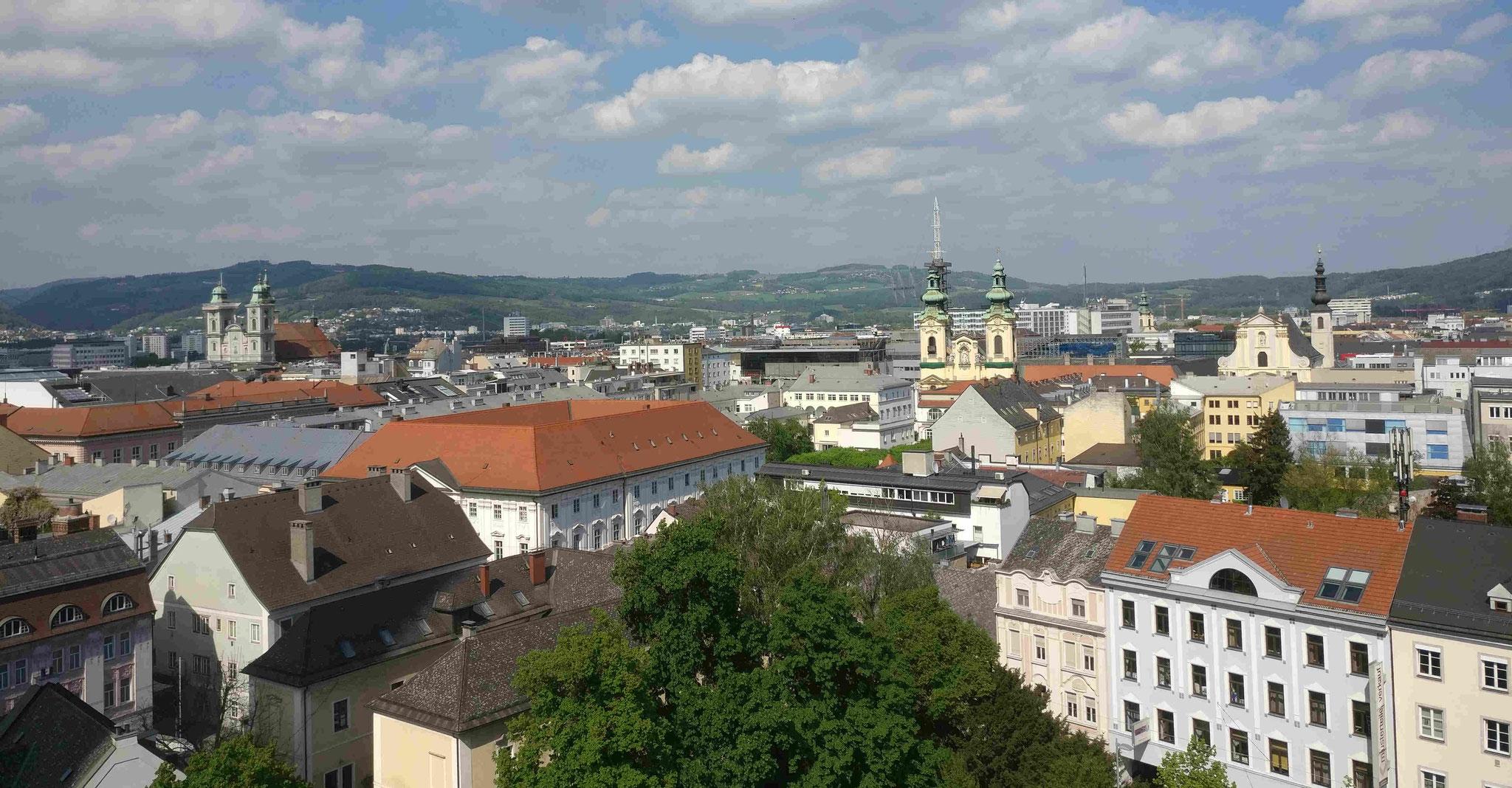 Blick auf Linz vom Mariendom