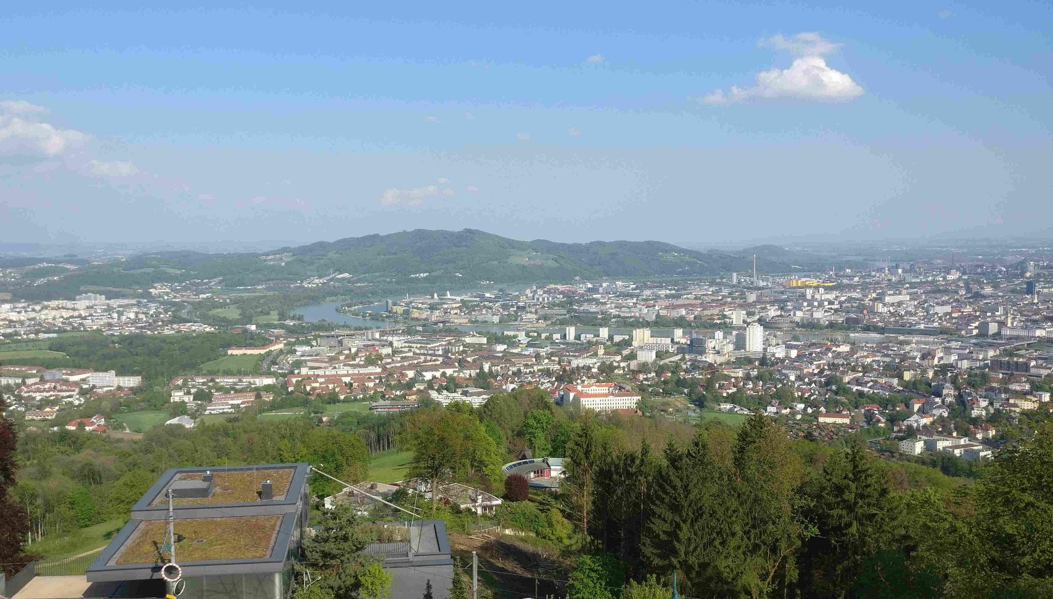 Blick auf Linz vom Pöstlingberg