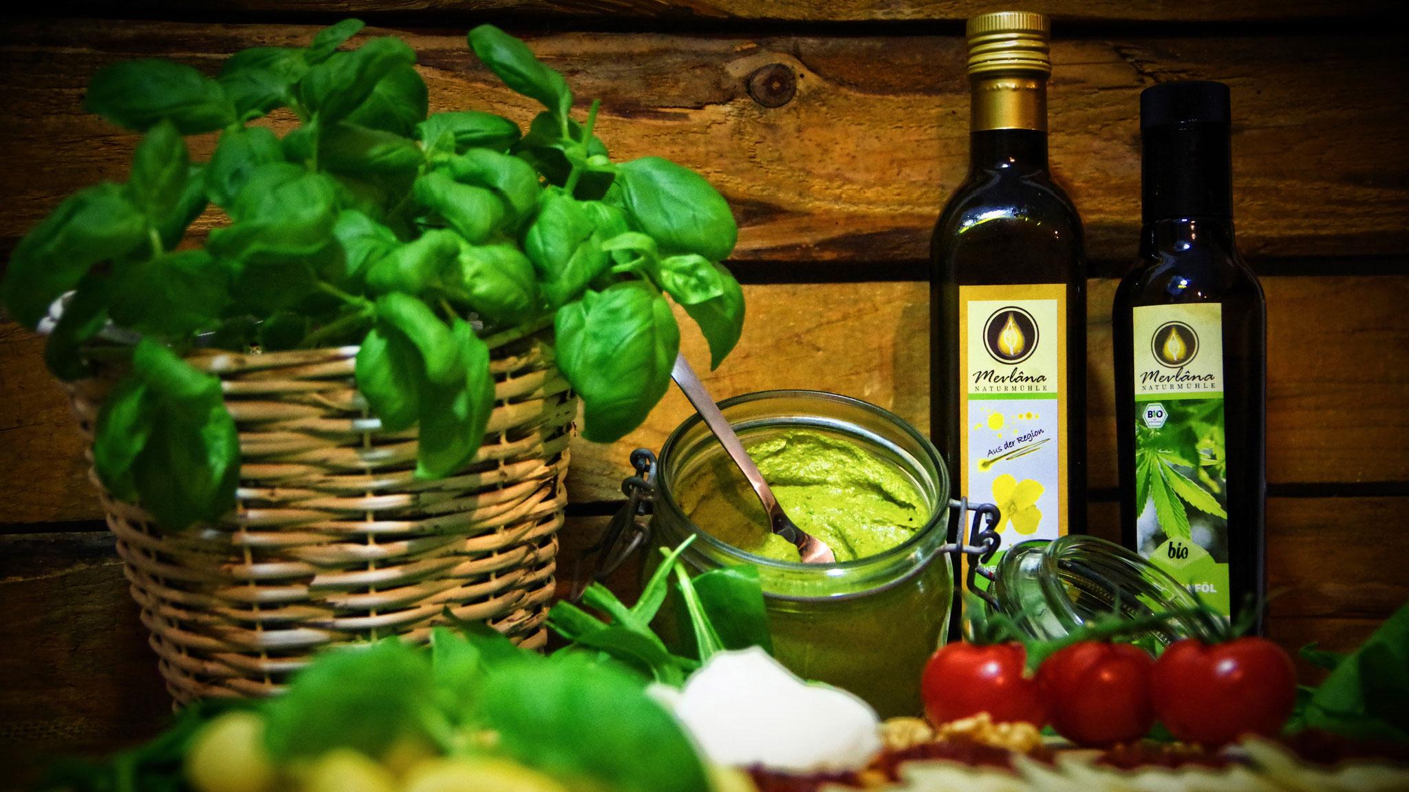 Pesto mit Rapsöl