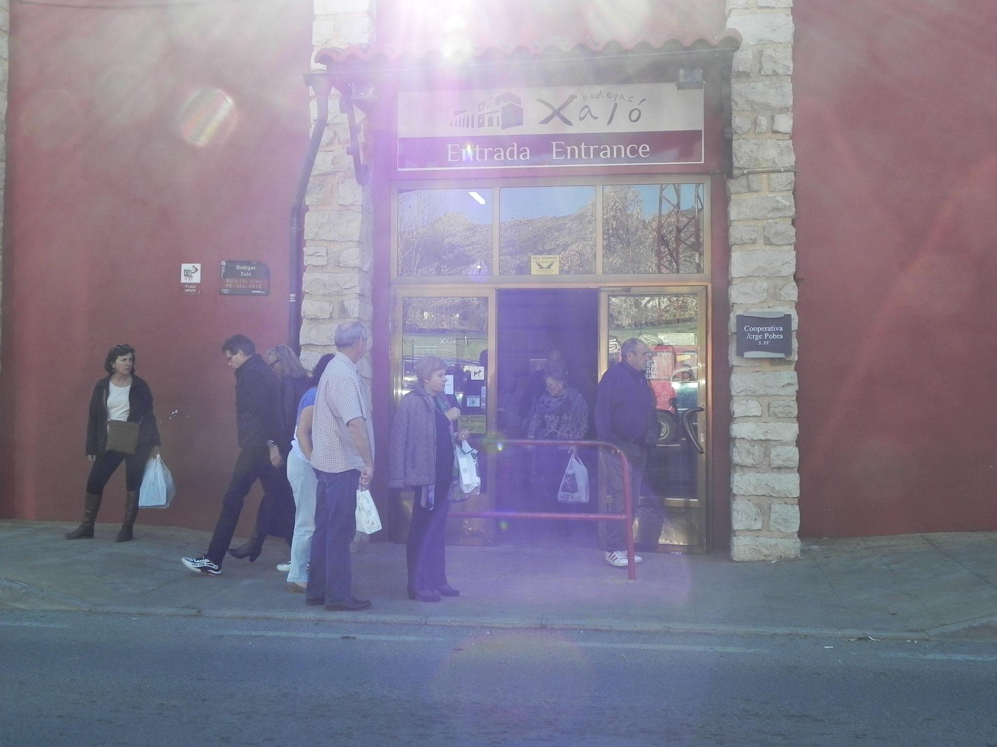 Eingang zur Bodega Xalo