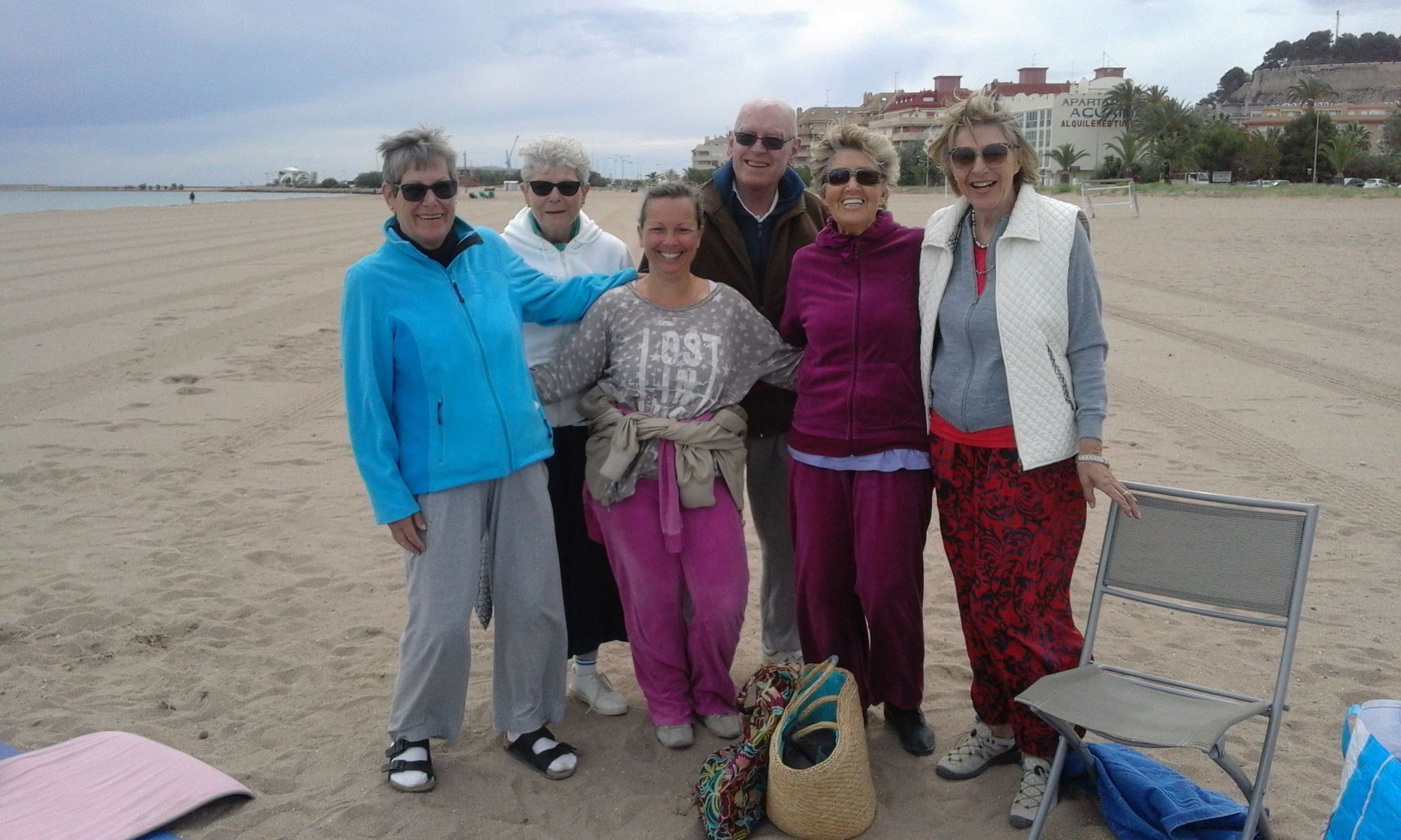 Geschafft nach dem Sporteln am Strand