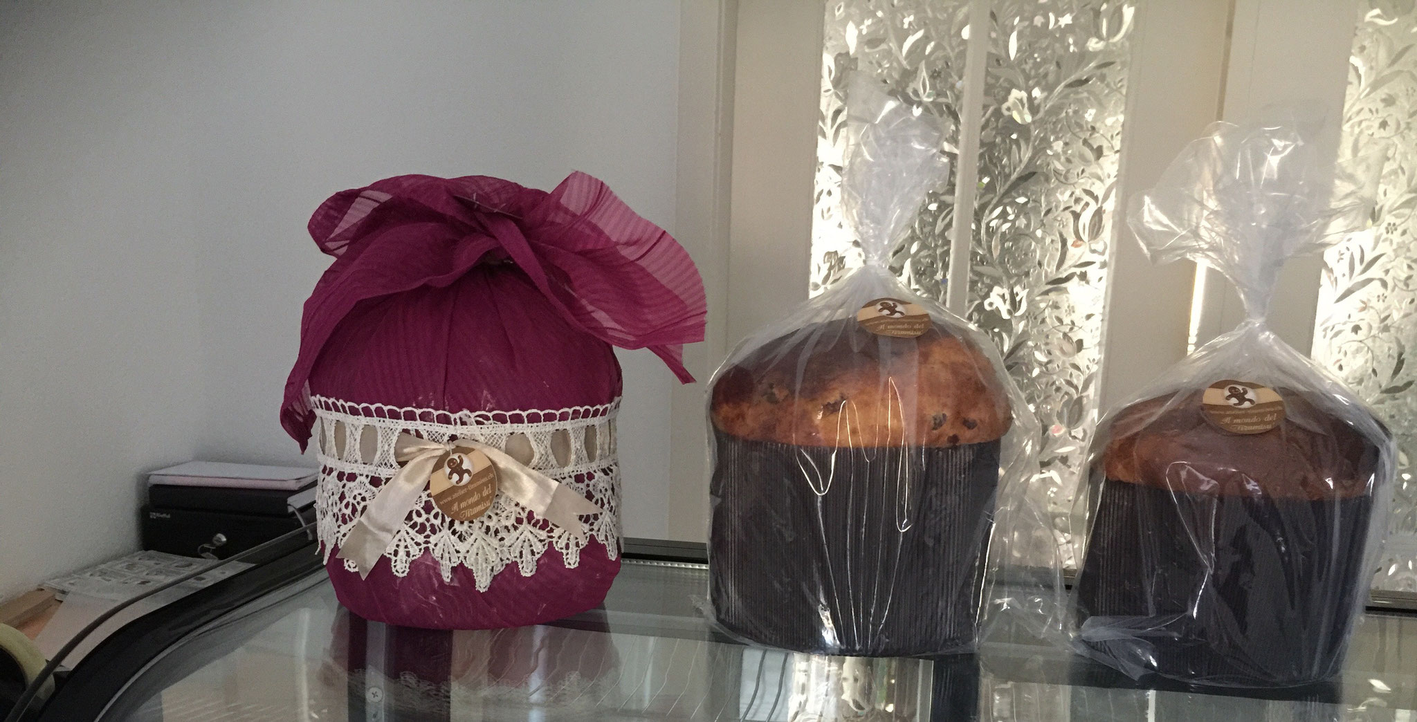 Panettone als Geschenk eingepackt - Detail