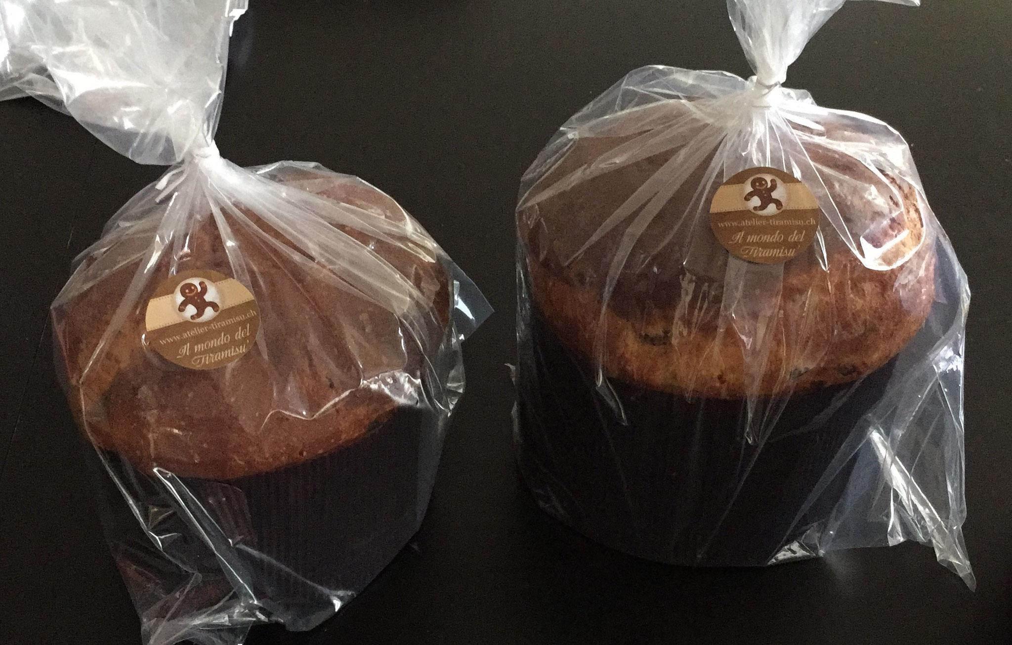 Panettone 3 Variante: Sultaninen, Schokoladen, kandierte Früchte - 38 Chf / Kg