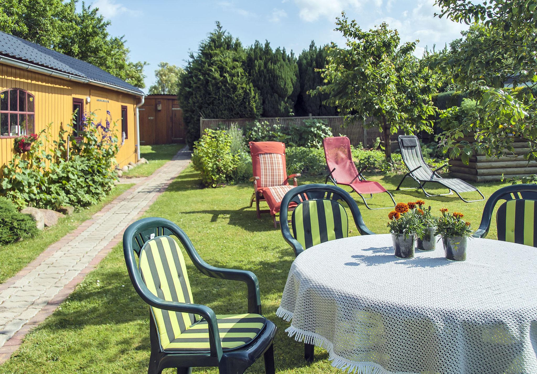 Ein gemütlicher Garten zum Entspannen