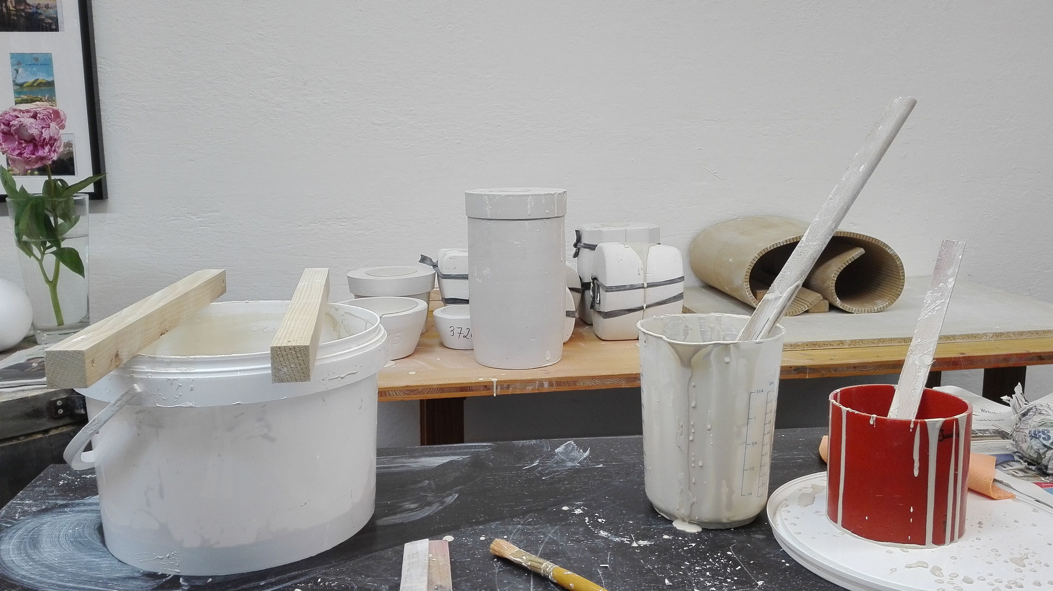 Gießen mit Porzellan | casting with porcelain © 2017 created by Juliane Leitner