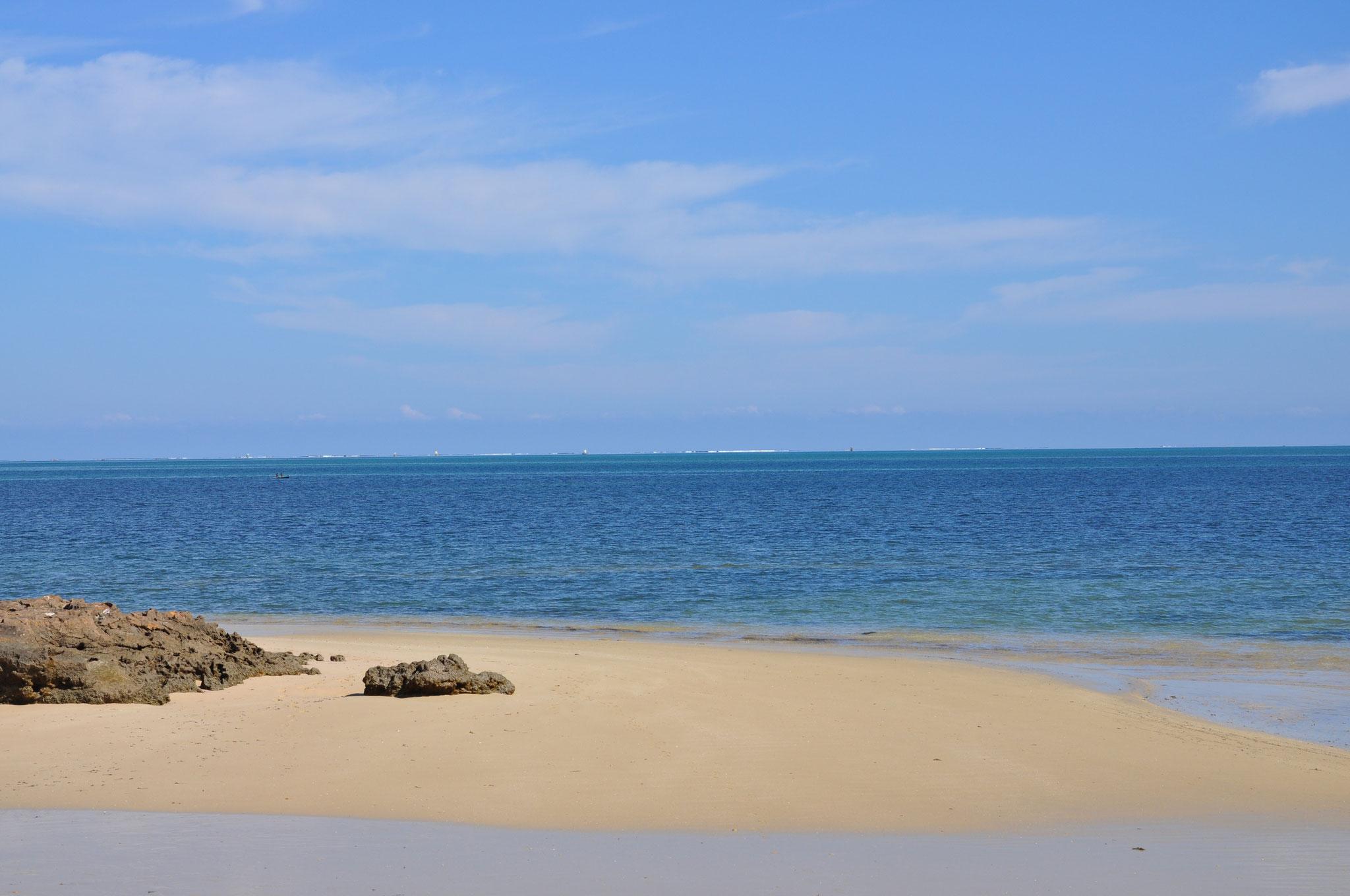 weißer Sandstrand