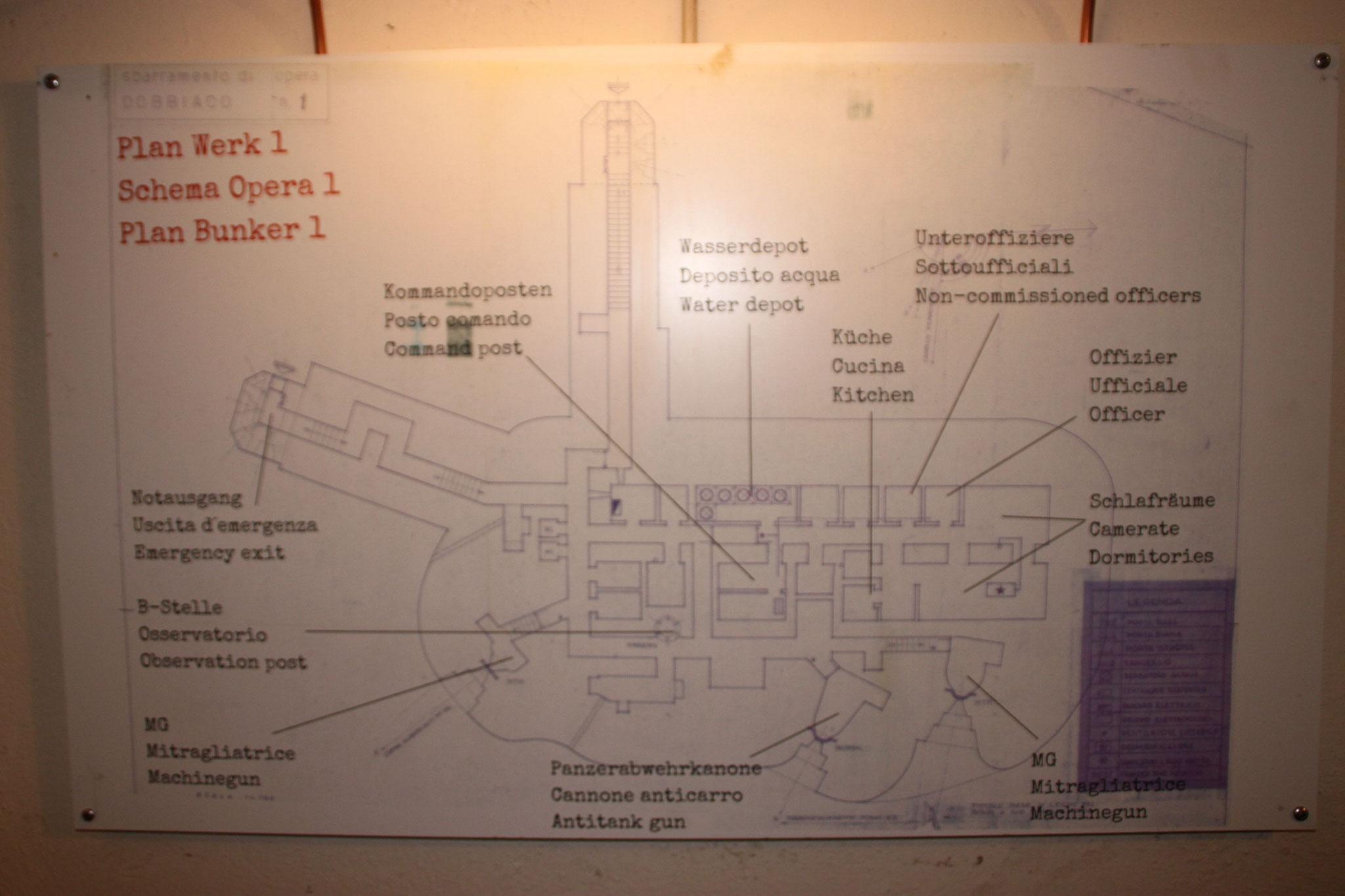 Scema del bunker.
