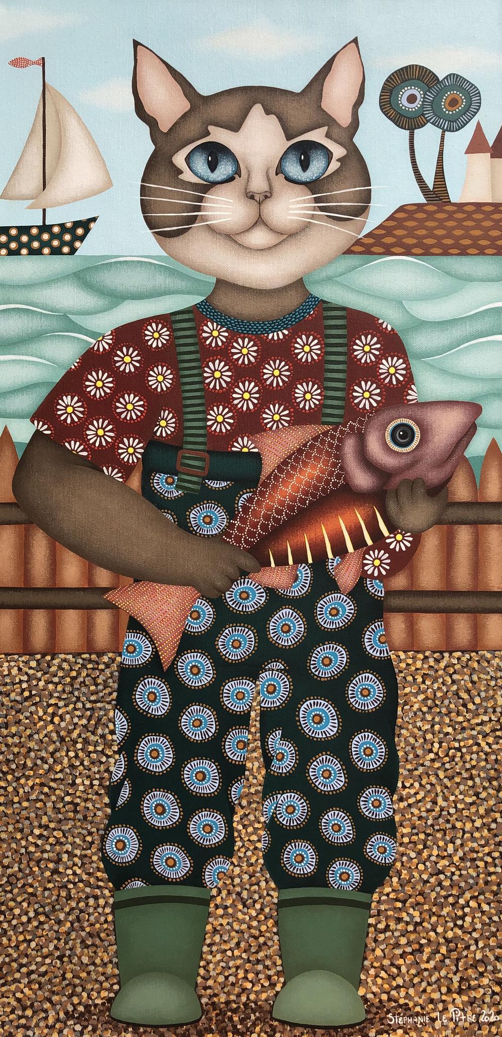 Martin...pêcheur (40 x 80)