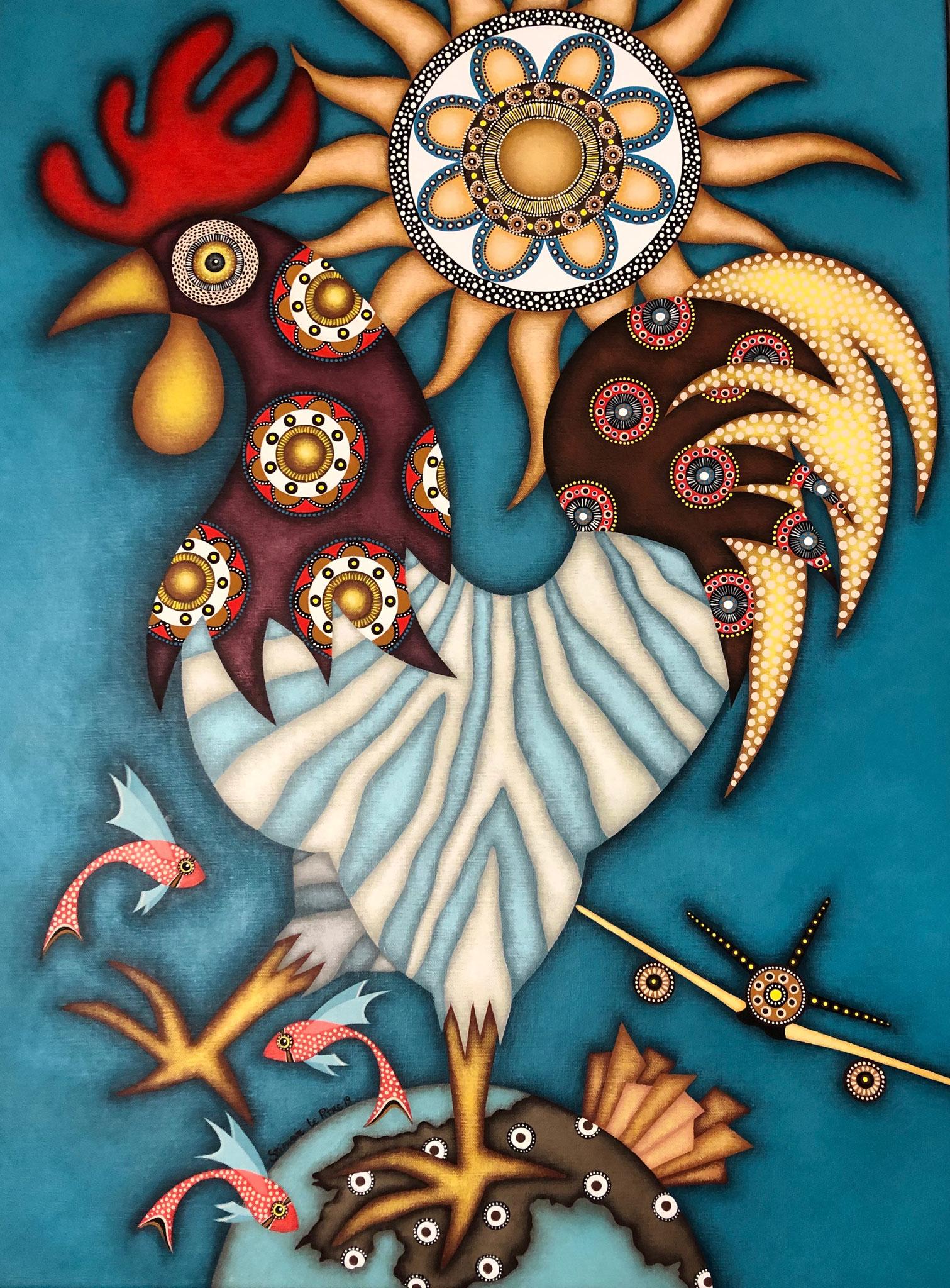 Le Coq Soleil (60 x 80)