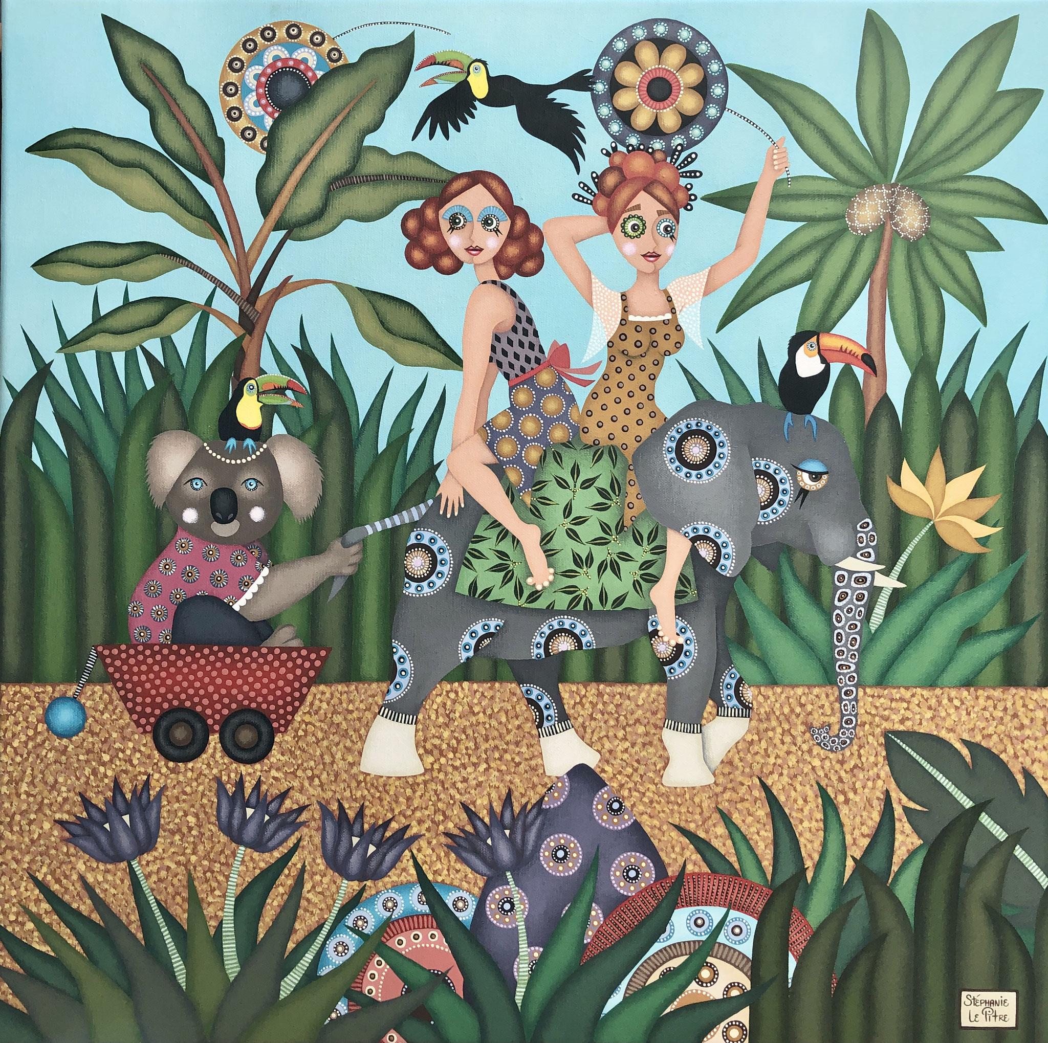 La Balade du Koala (60 x 60)