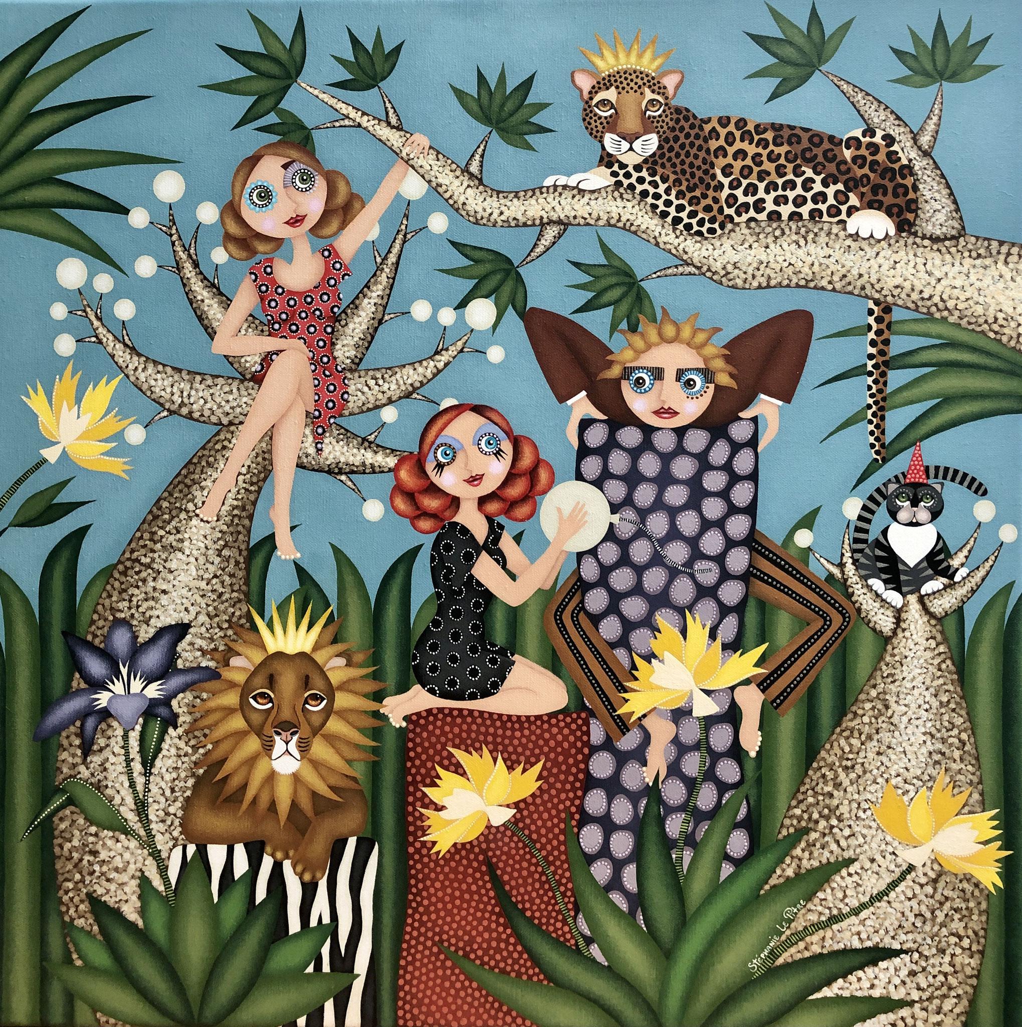 Les Rois de la Jungle (60 x 60)