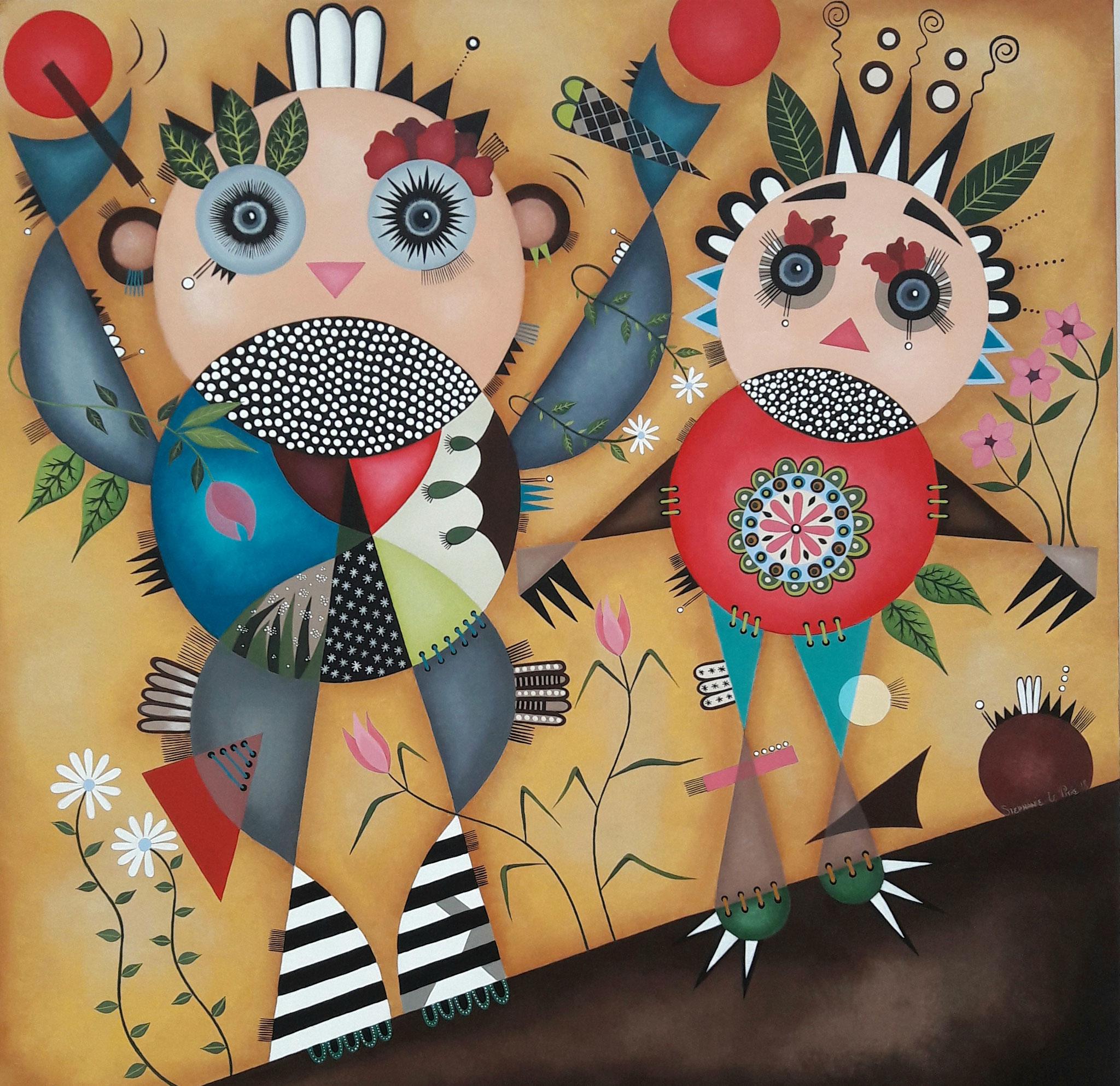 Haut les Mains (80 x 80)