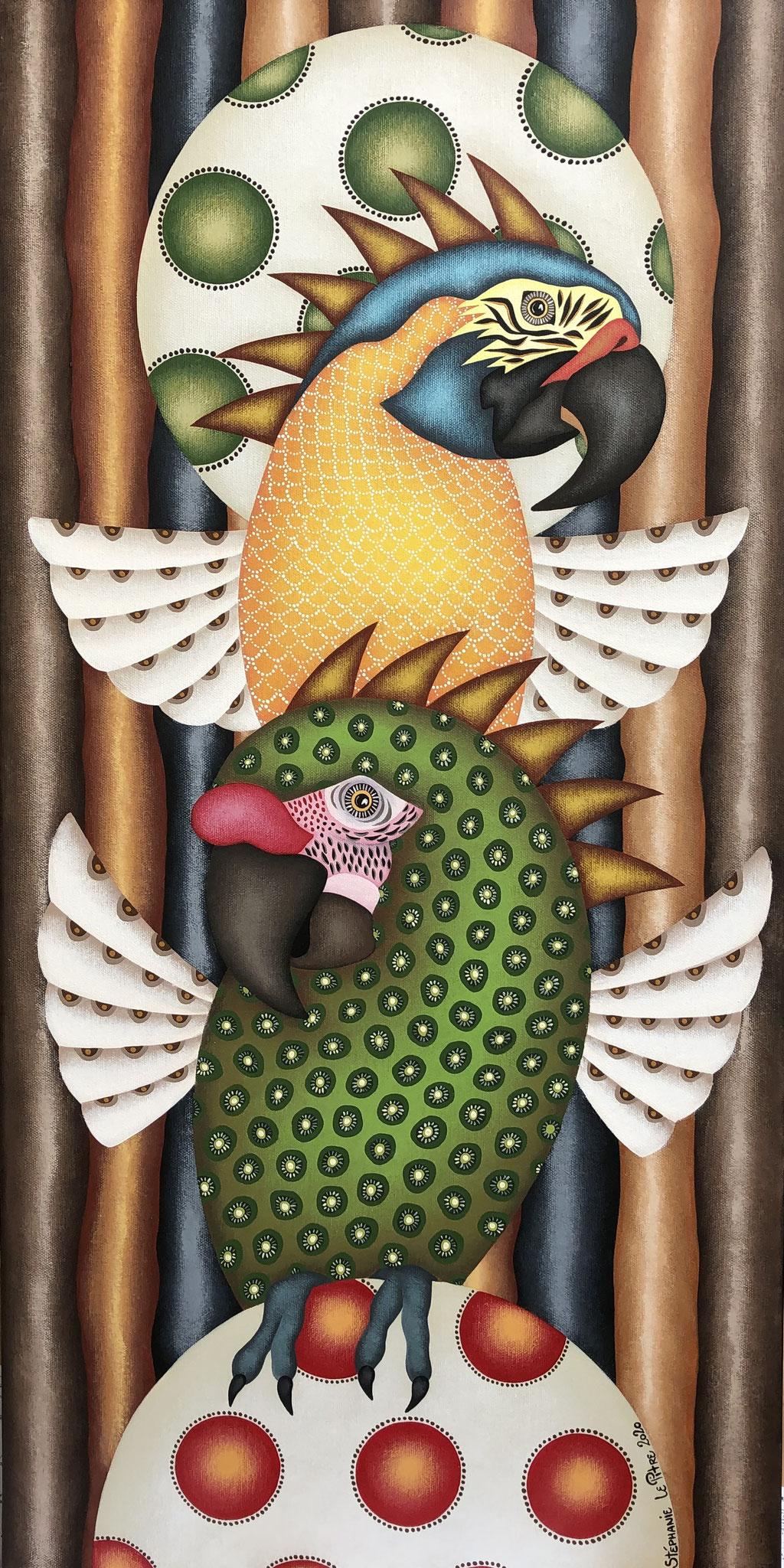 Les Aras qui rient (40 x 80)