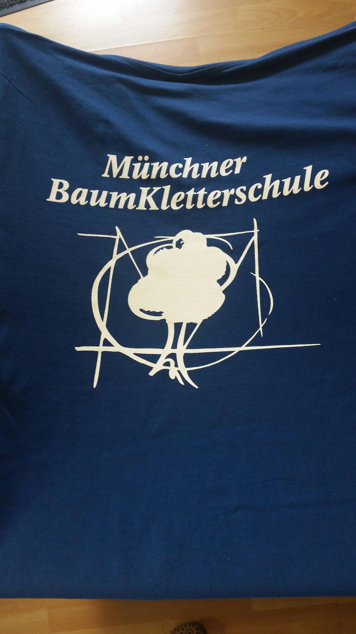 T-Shirt Siebdruck Rücken 1-farbig
