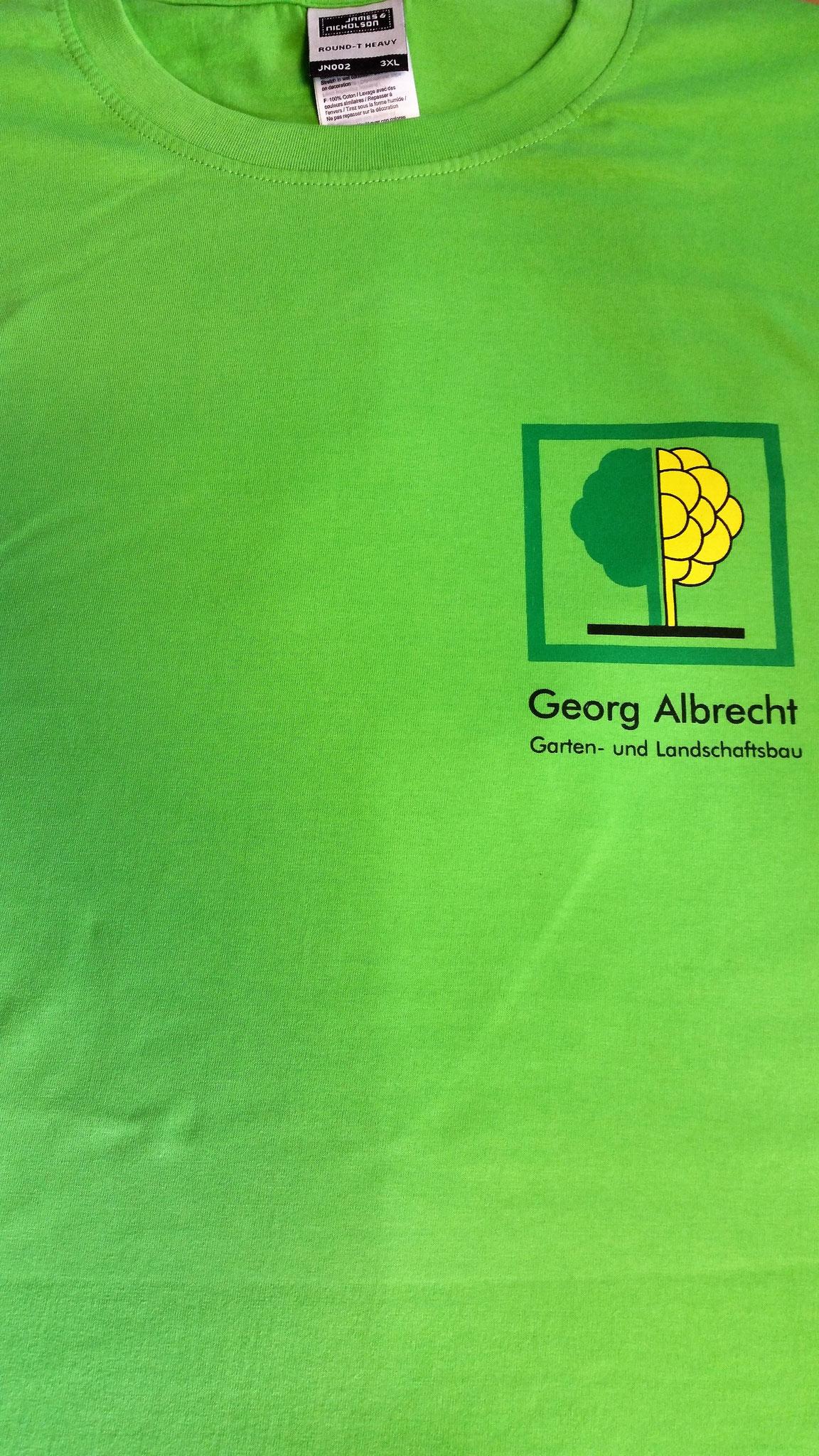T-Shirt Siebdruck Brust 3-farbig