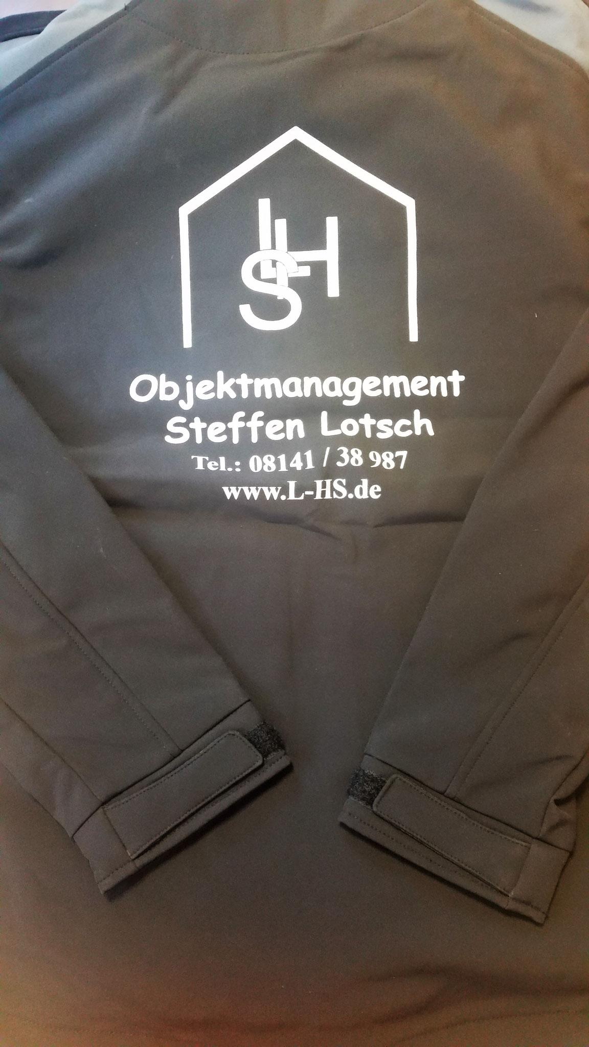 Softshelljacke Siebdruck Rücken 1-farbig