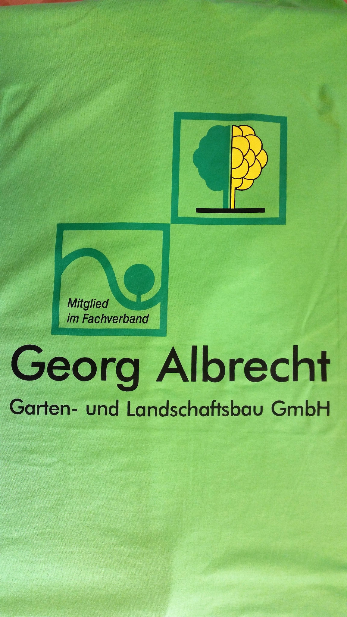 T-Shirt Siebdruck Rücken 3-farbig