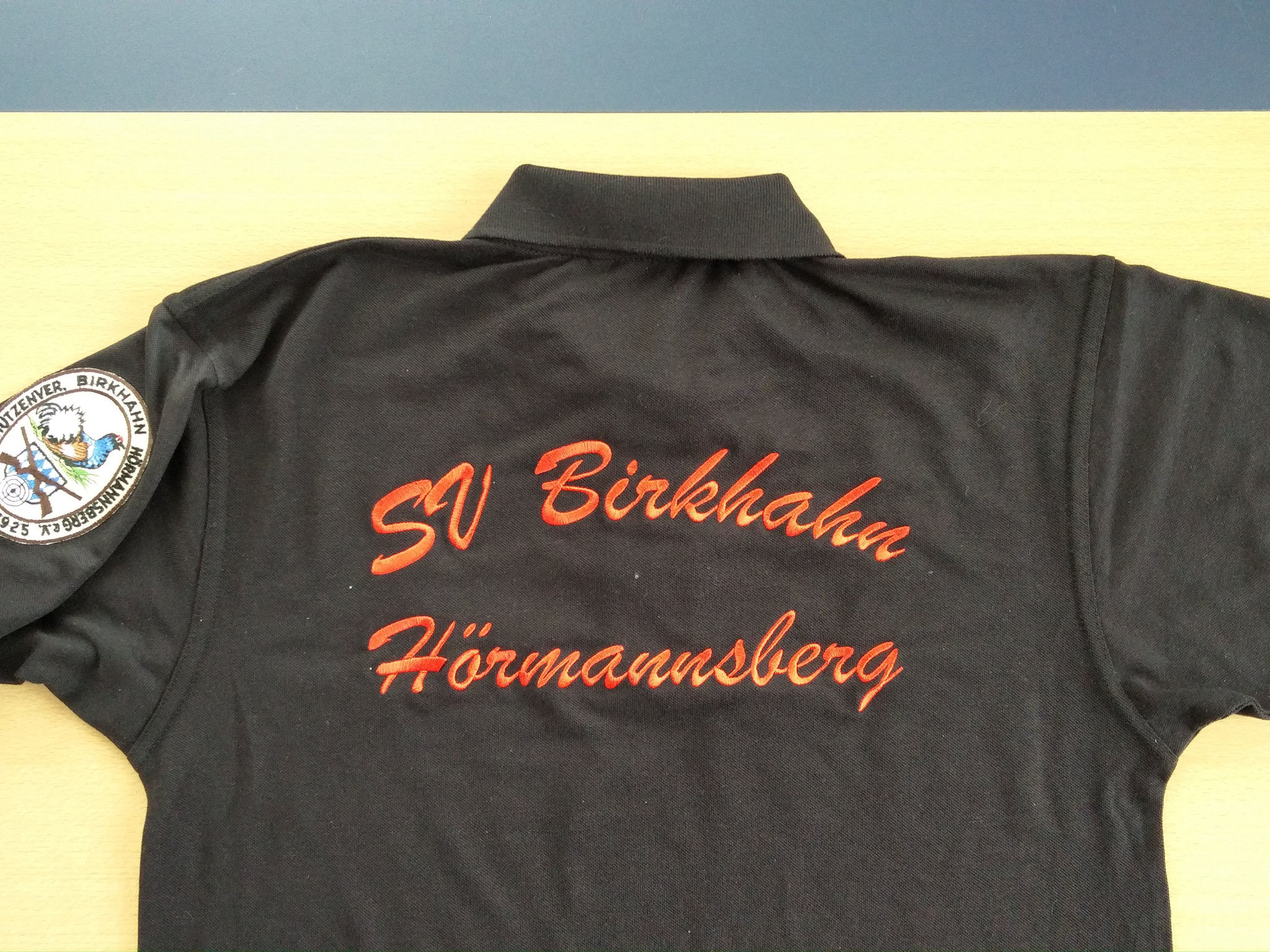 Poloshirt Rückenshirt 1-farbig