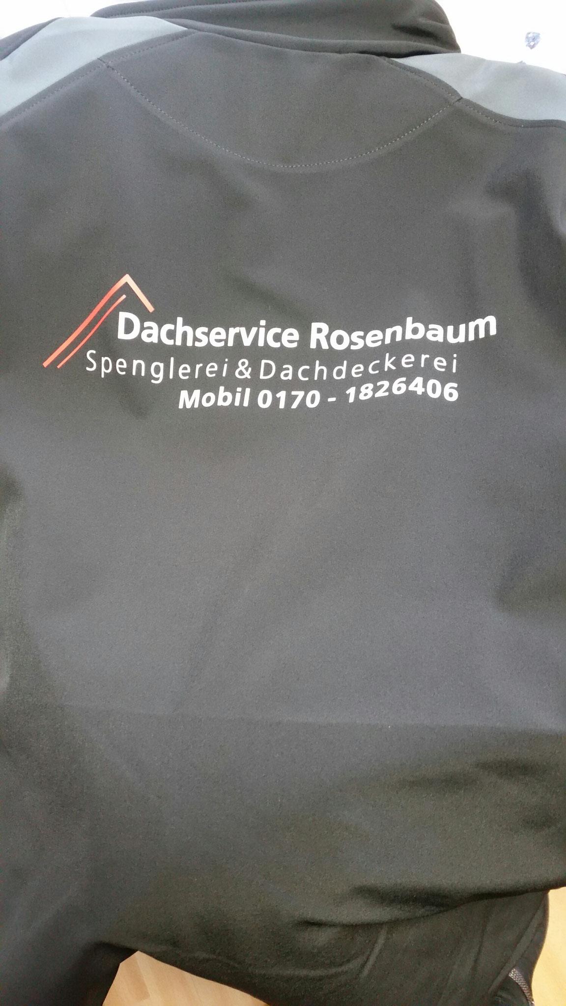 Softsheljacke Transferdruck Rücken 2-farbig