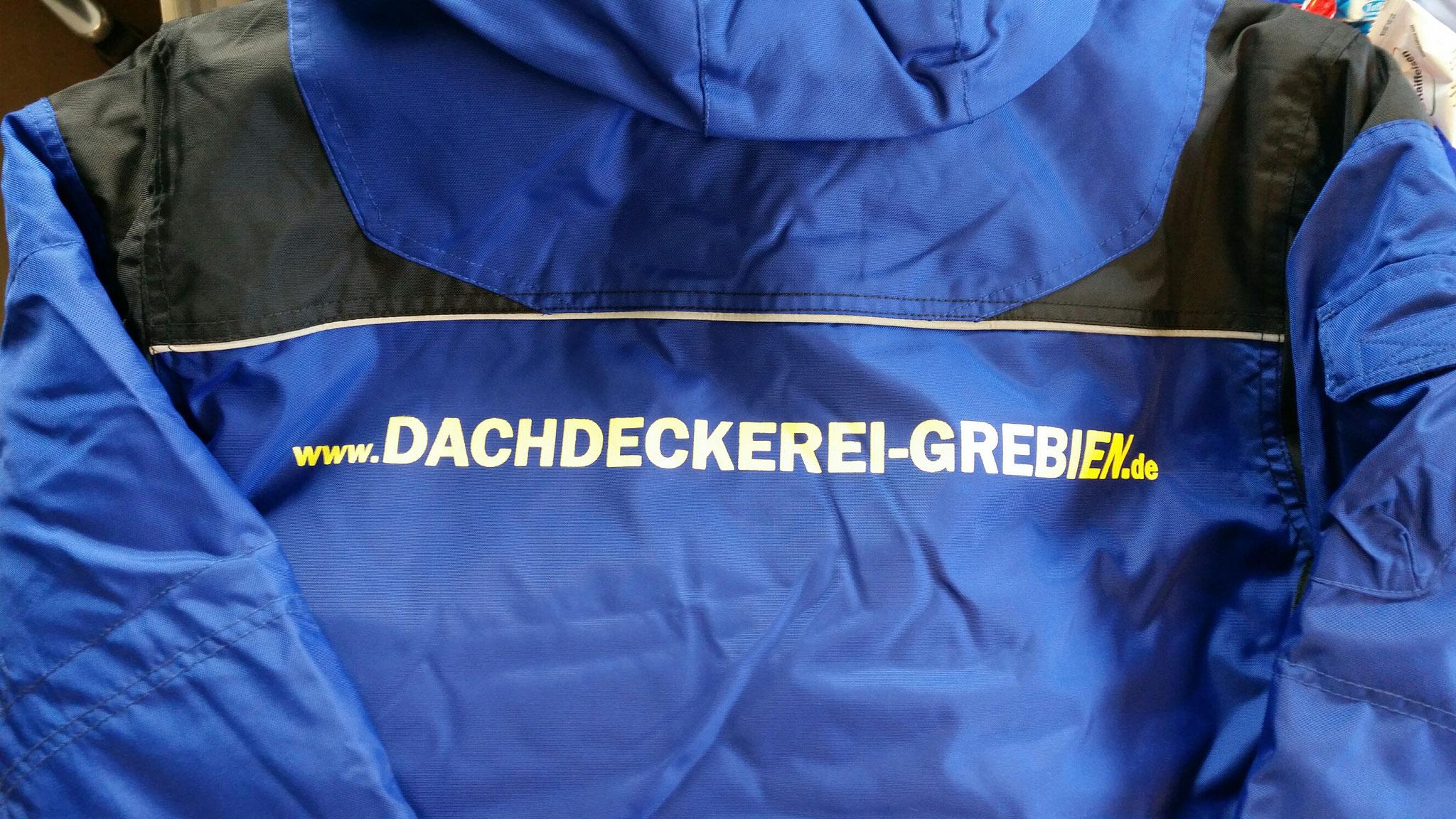 Winterjacke Siebdruck Rücken 1-farbig
