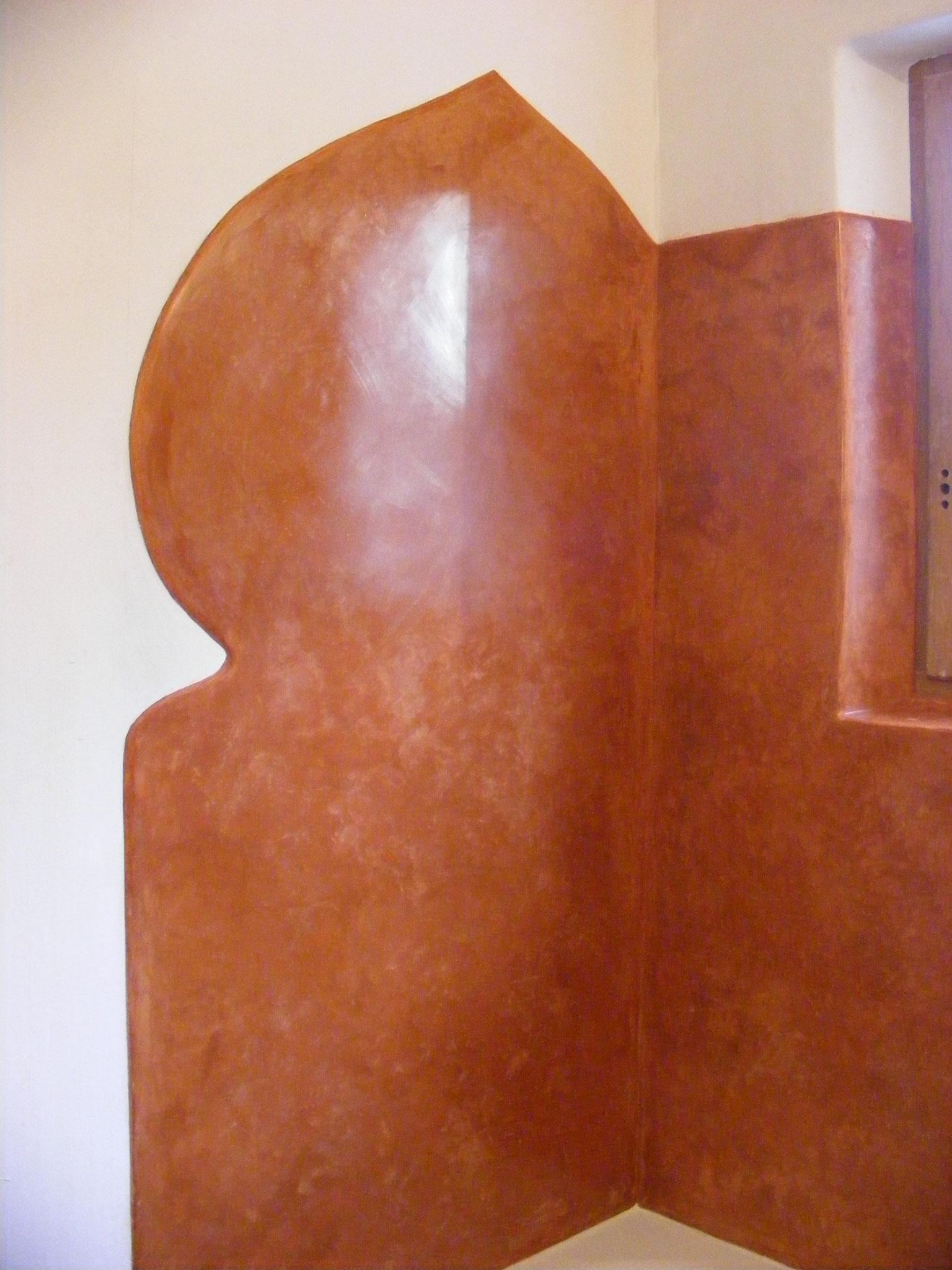 Tadelakt - Couleur terre cuite