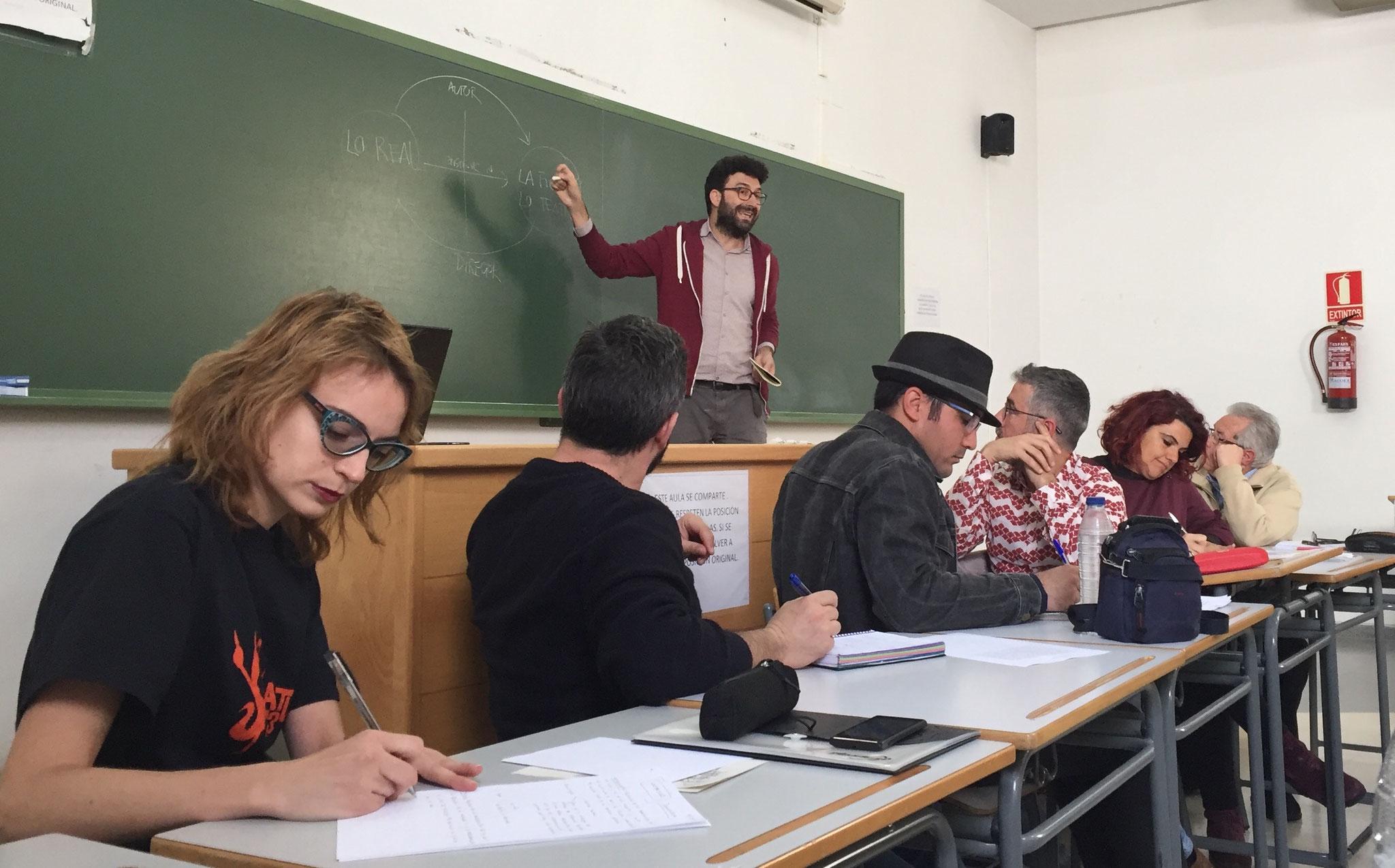 """""""ESCRITURA DRAMÁTICA"""" con JOSÉ MANUEL MORA. ABRIL 2018"""