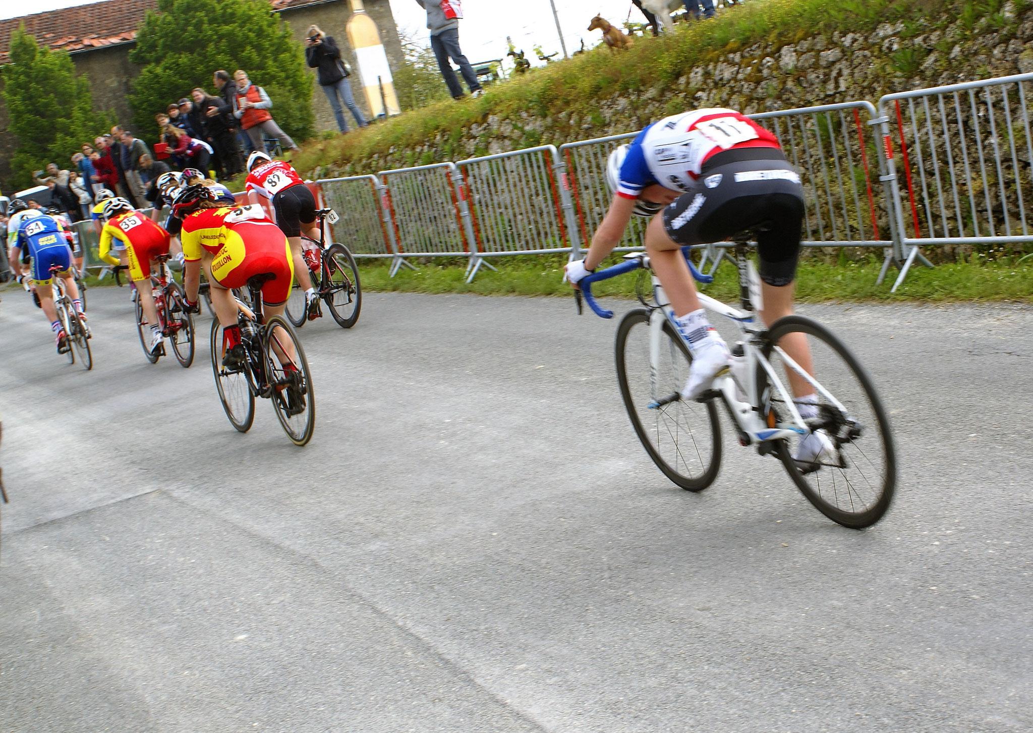 Célia en plein effort lors du sprint final