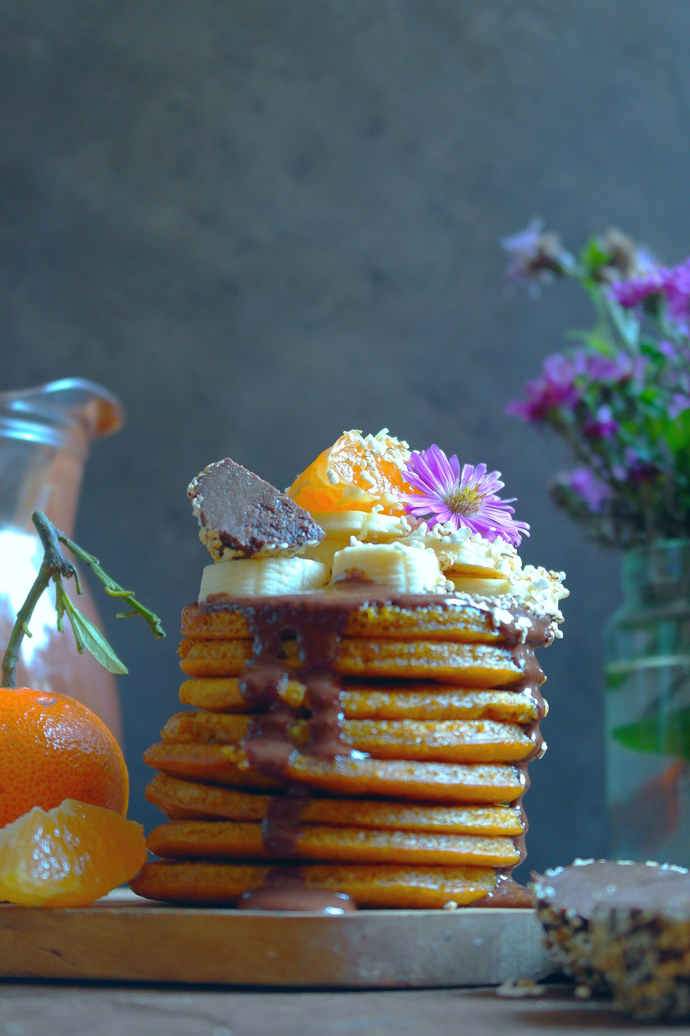 Delicious pancakes with pumpkin