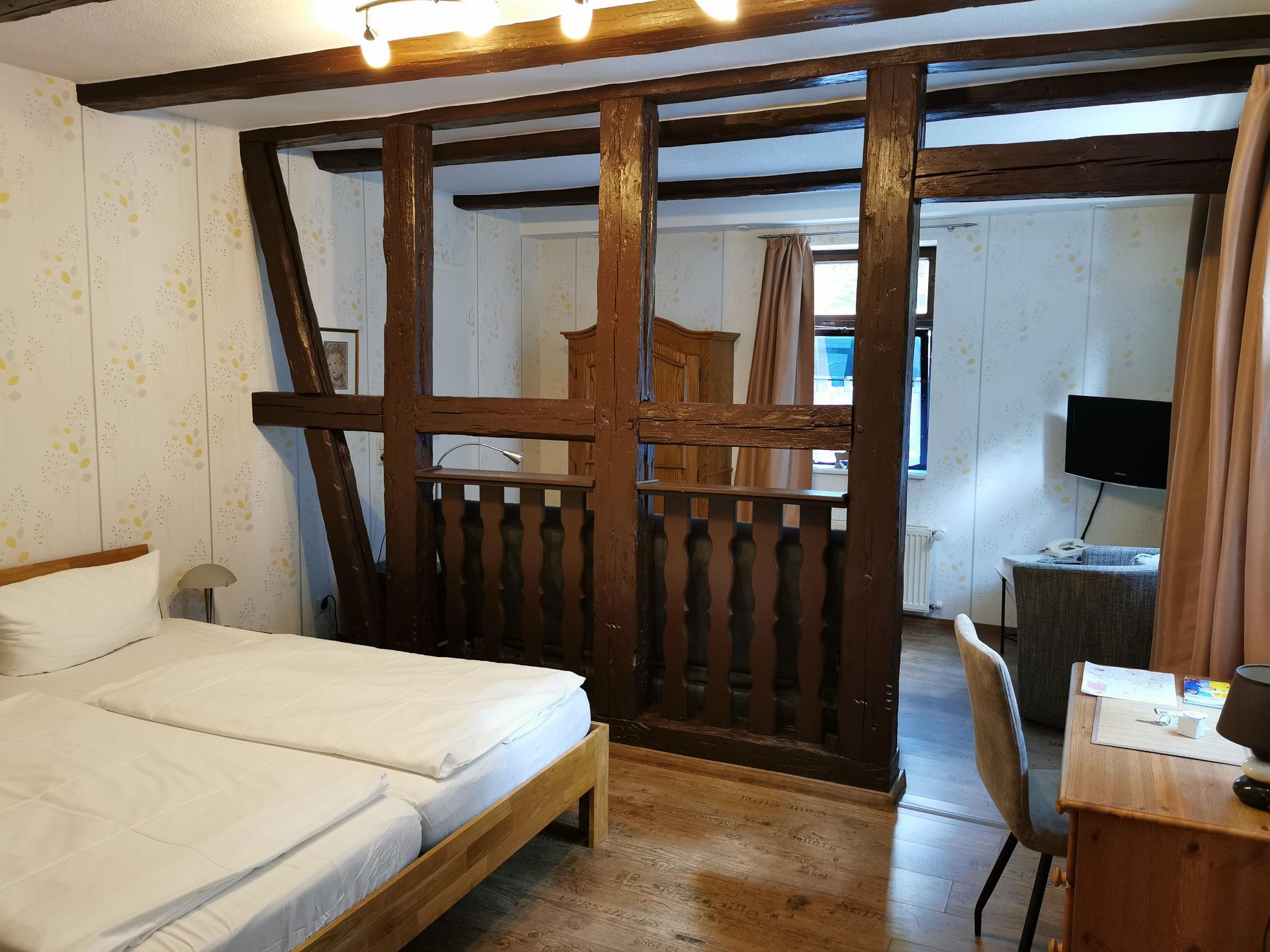 Doppelzimmer im Fachwerkhaus