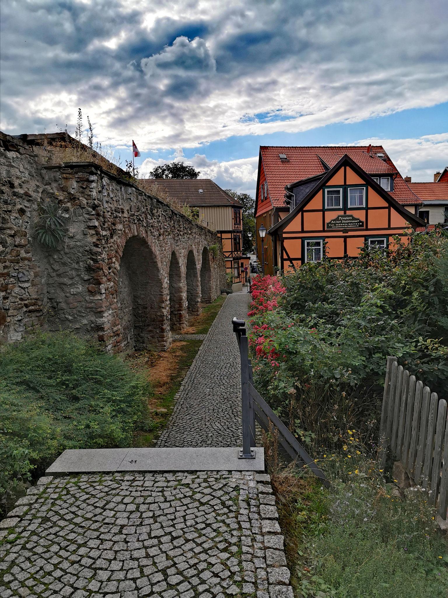 Stadtmauer von Wernigerode (links)