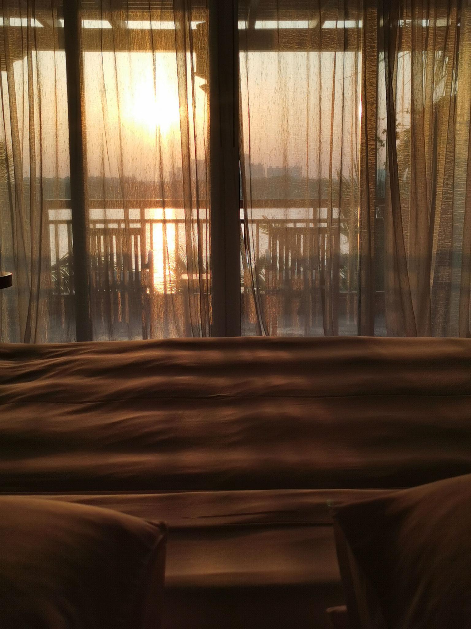 Ausblick zum Sonnenuntergang