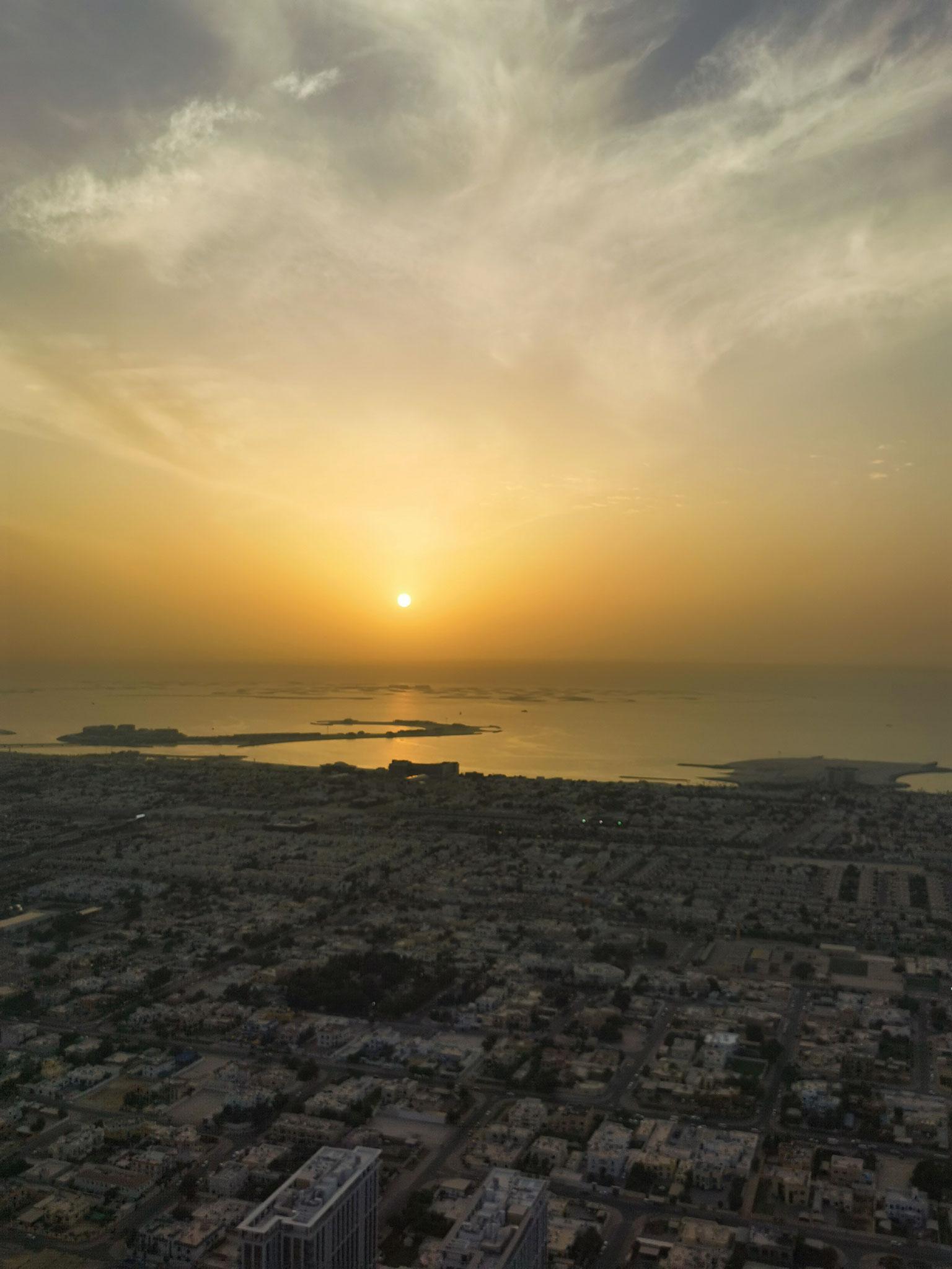 Aussicht zum Sonnenuntergang