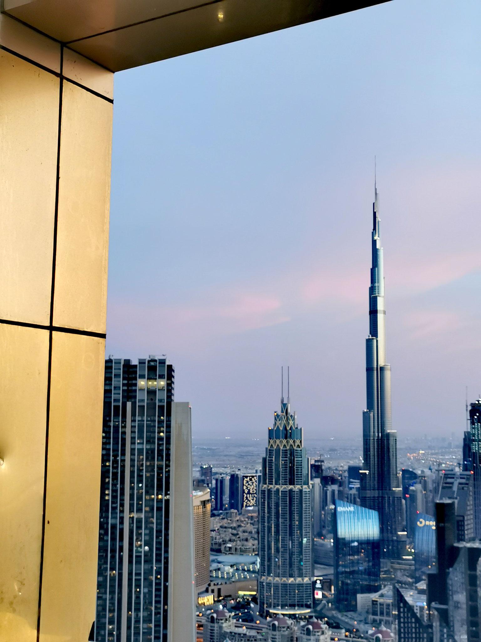 Blick auf den Burj Khalifa und Downtown