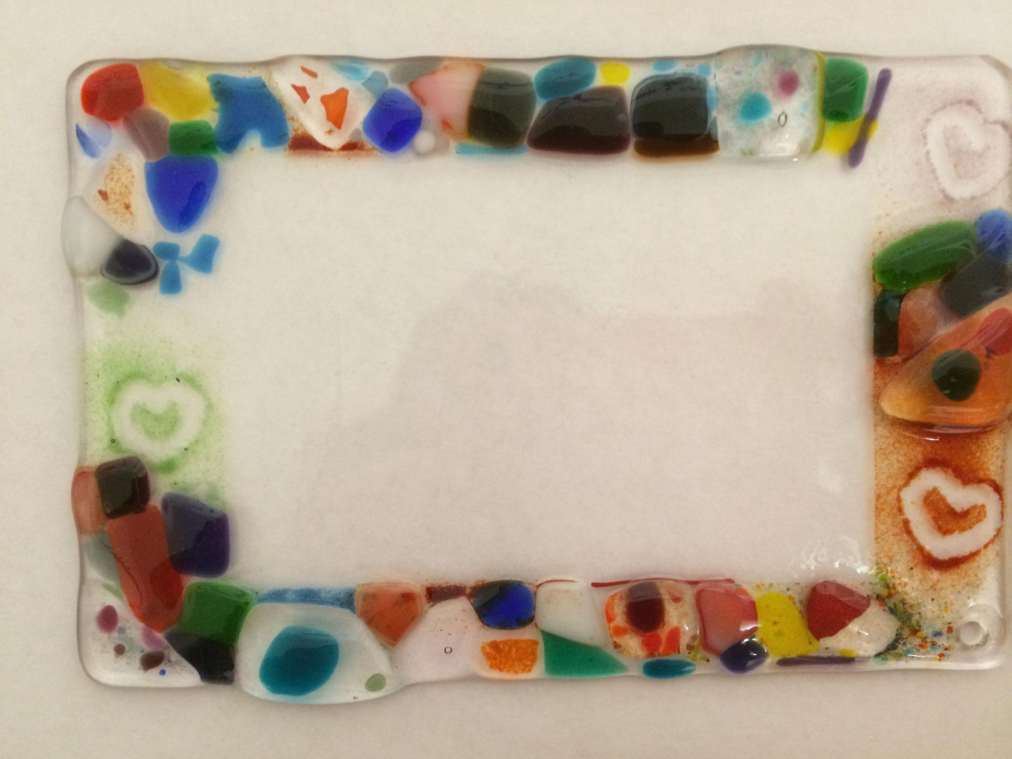 Farbenfrohes Beispiel für einen Glas- Bilderrahmen,