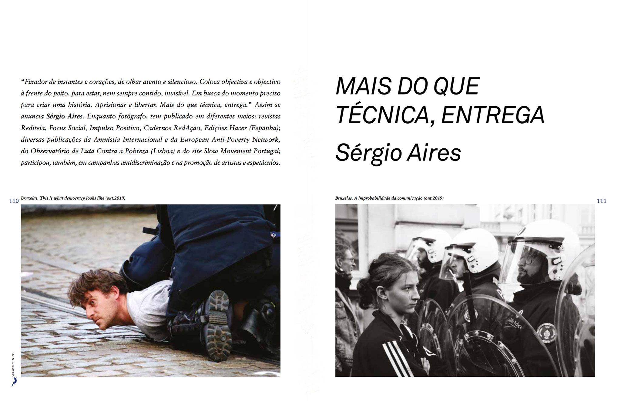 Portfólio na revista Página da Educação, n.º 215 - Verão 2020