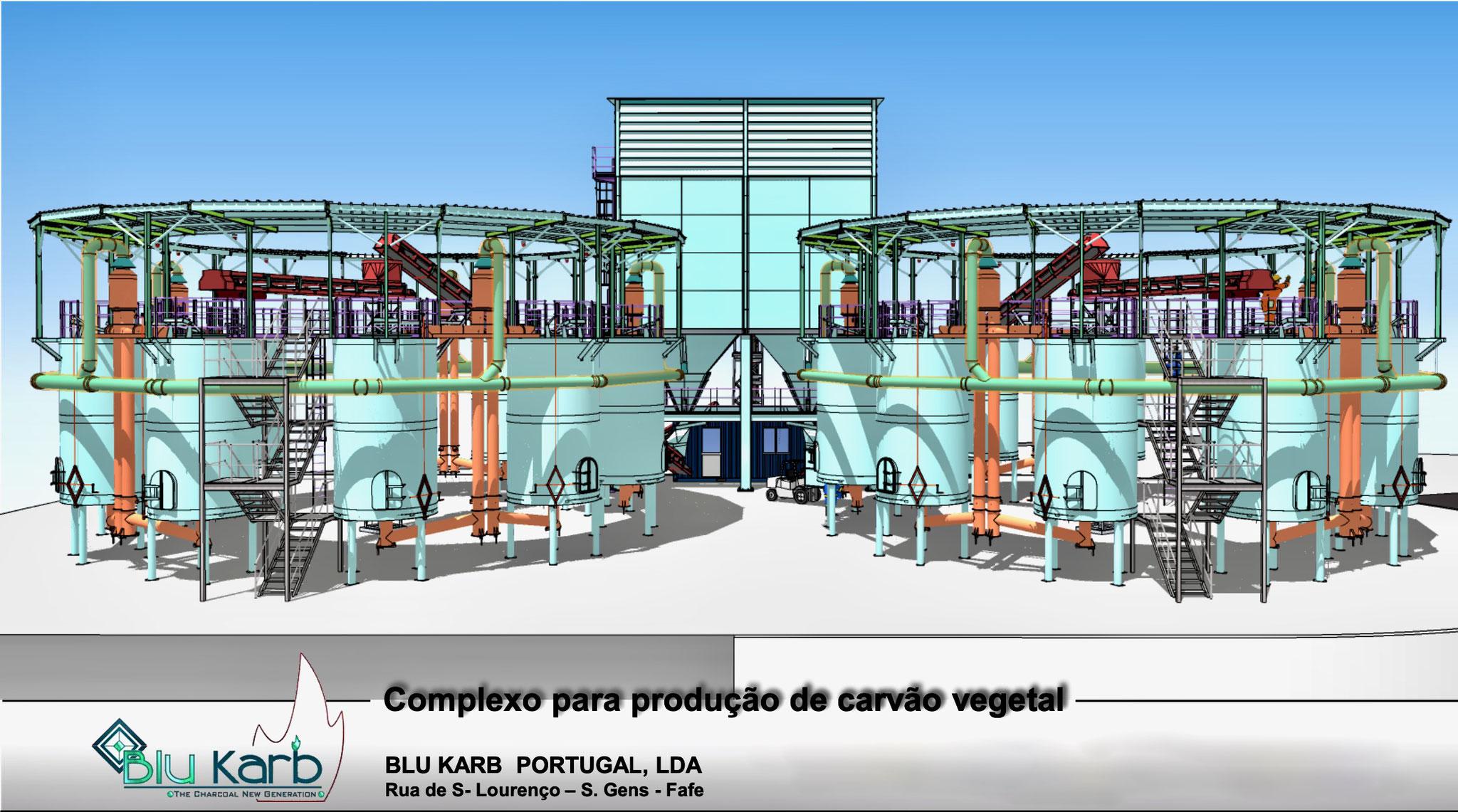 Visión general de los hornos de producción de carbón vegetal Blu Karb