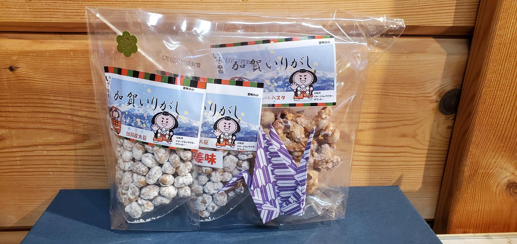 勧進帳セットb 3個入り(ショートパスタ30g・大豆砂糖味50g・大豆生姜味50g)