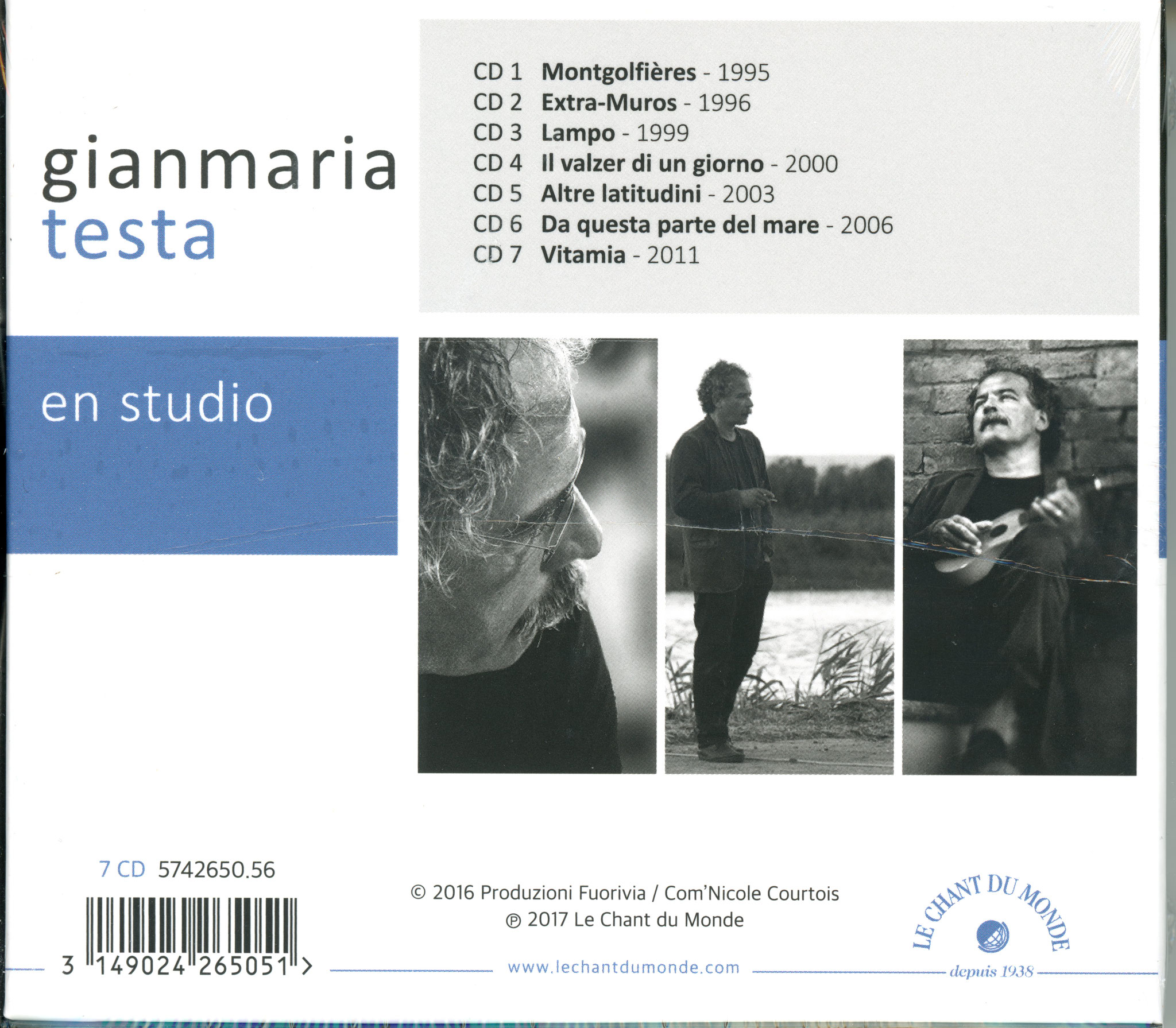 Gianmaria Testa (Guitar & Vocal)  - 1958-2016